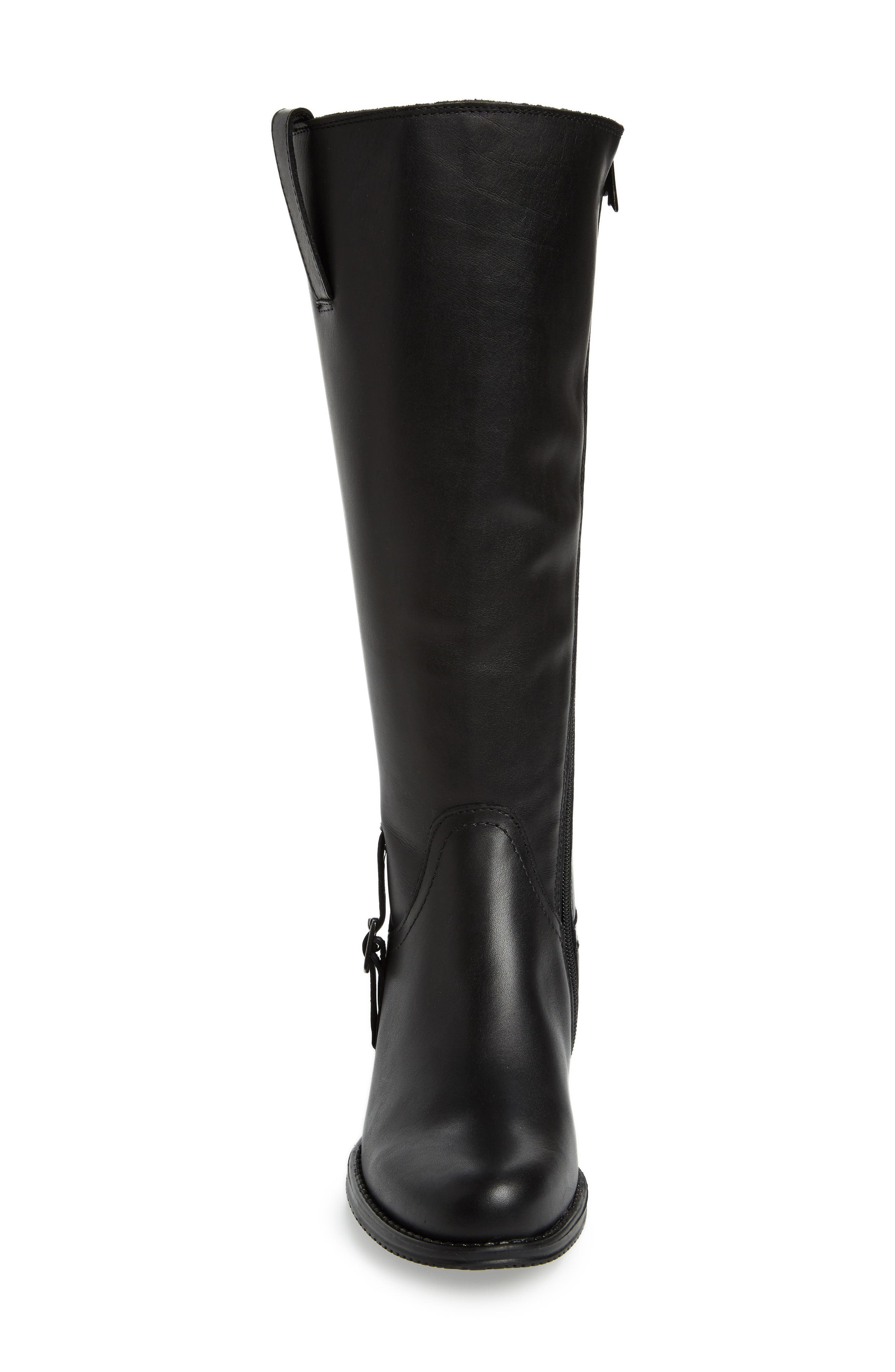 Dogueno Waterproof Boot,                             Alternate thumbnail 4, color,                             Black Leather
