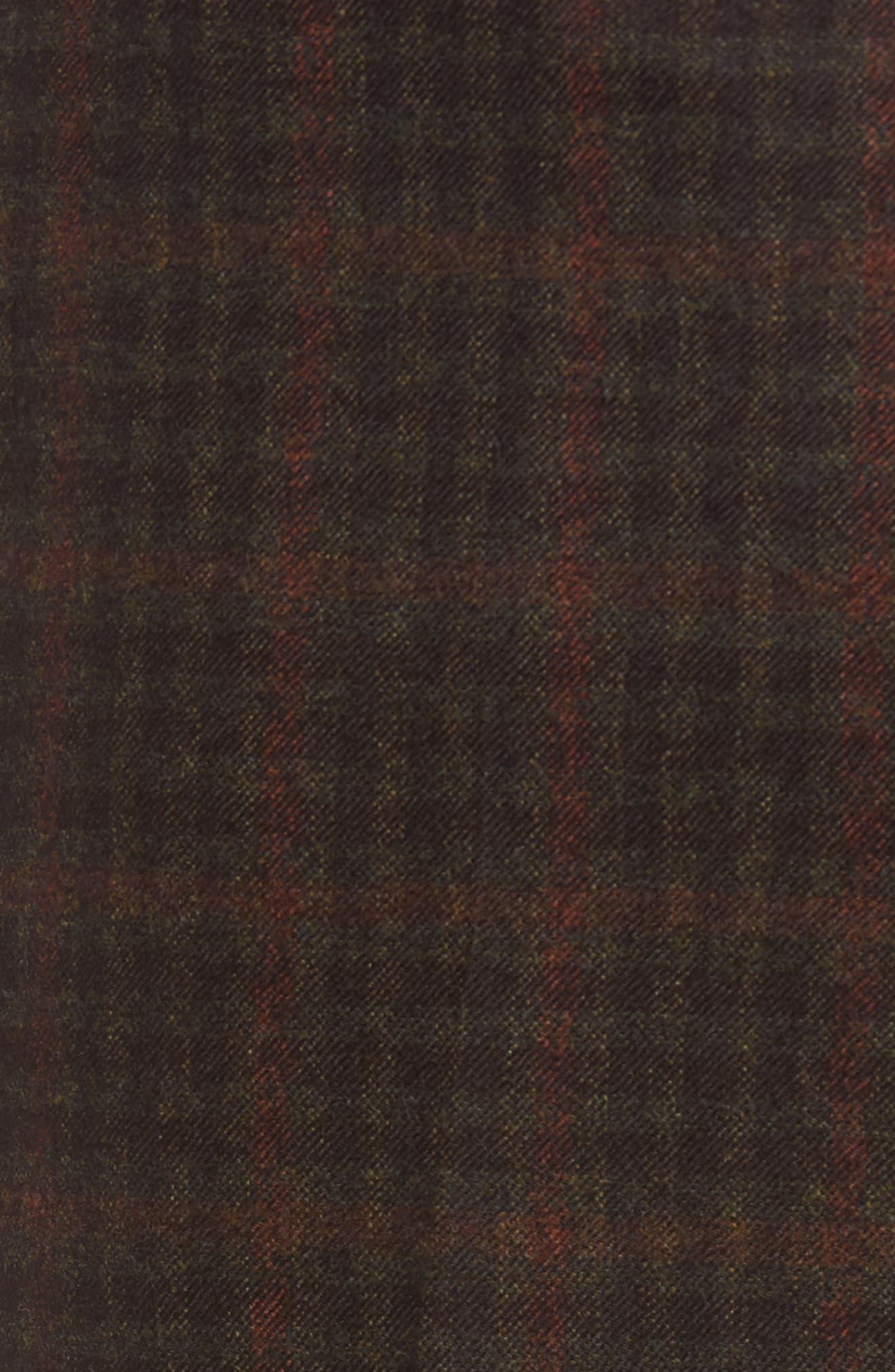 Alternate Image 5  - Berle Flat Front Plaid Wool Trousers