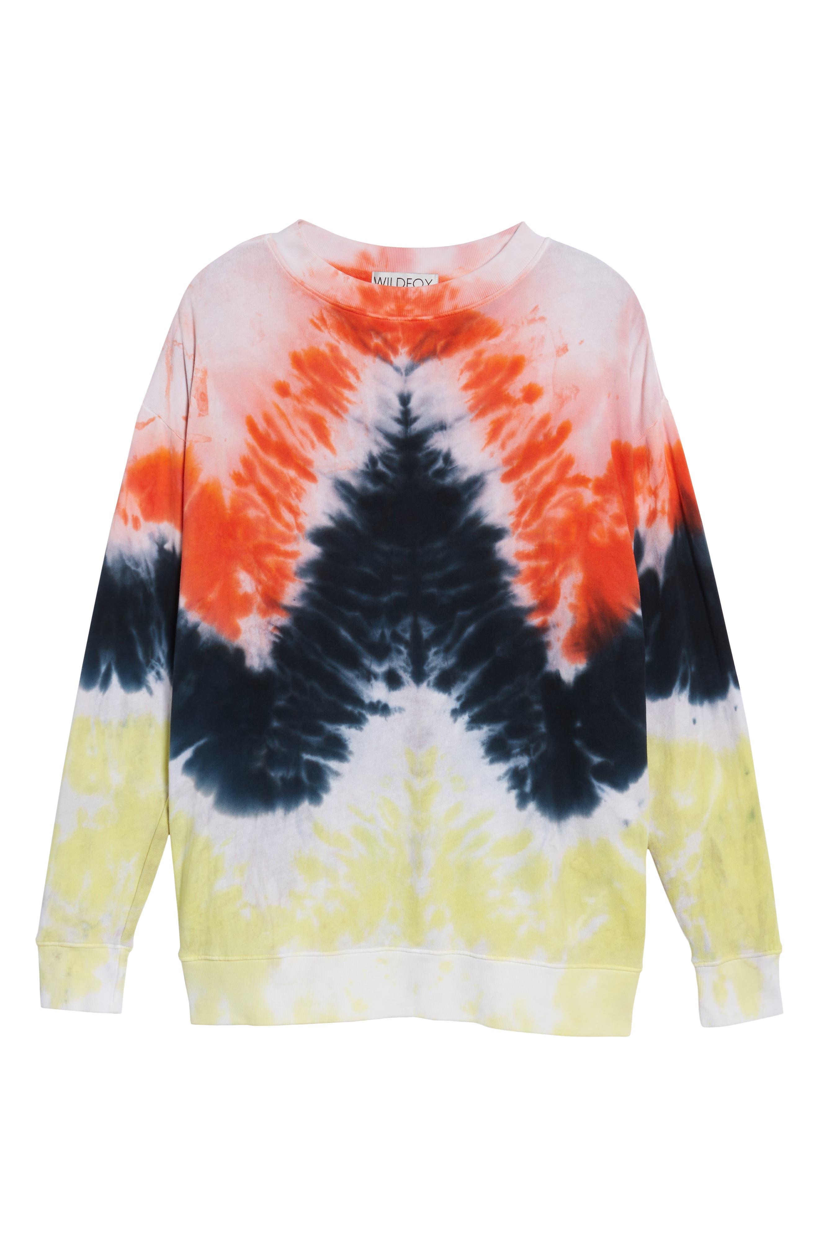 Road Trip Sweatshirt,                             Alternate thumbnail 6, color,                             Burst Tie Dye