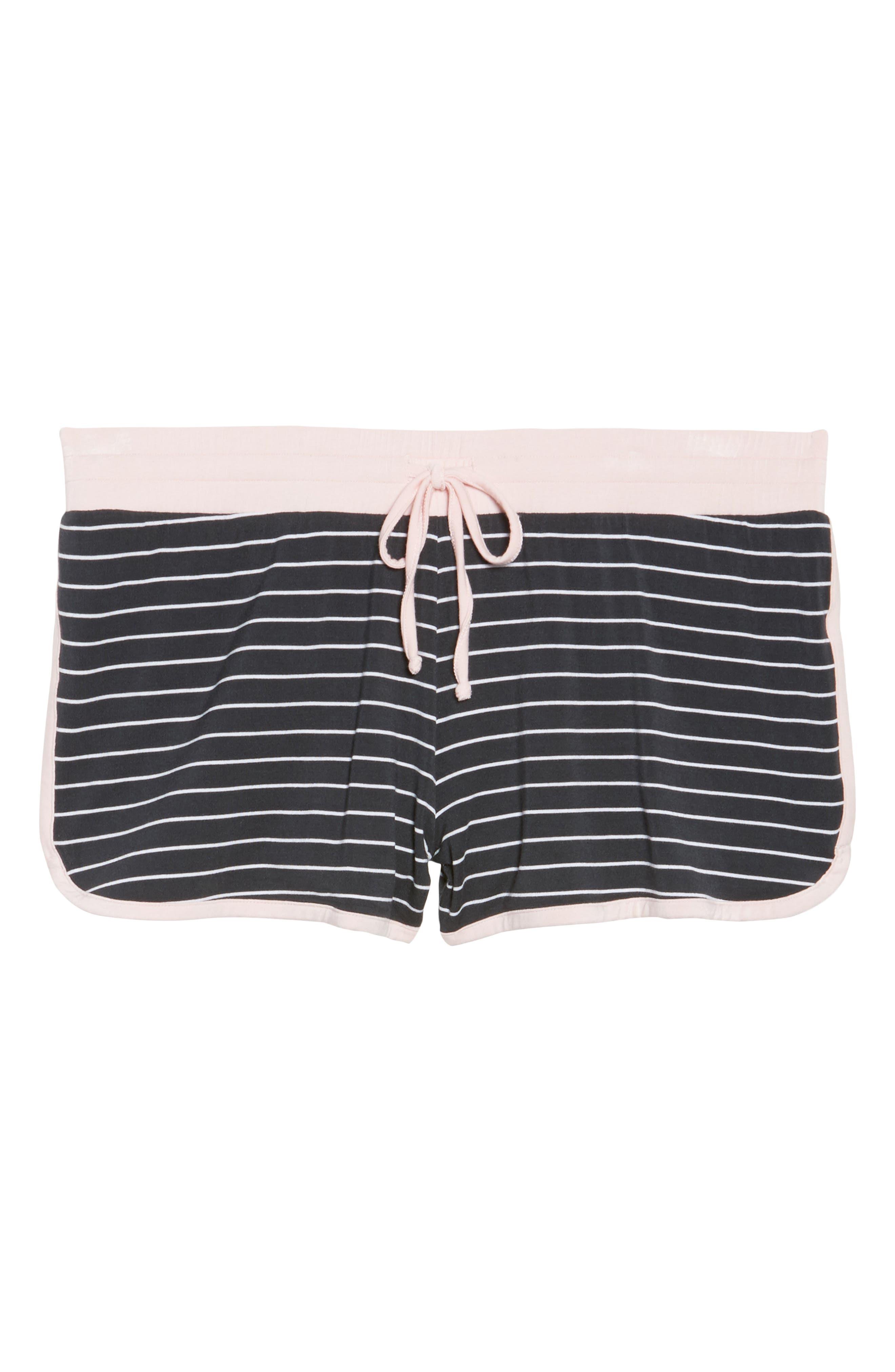Stripe Jersey Shorts,                             Alternate thumbnail 7, color,                             Smoke