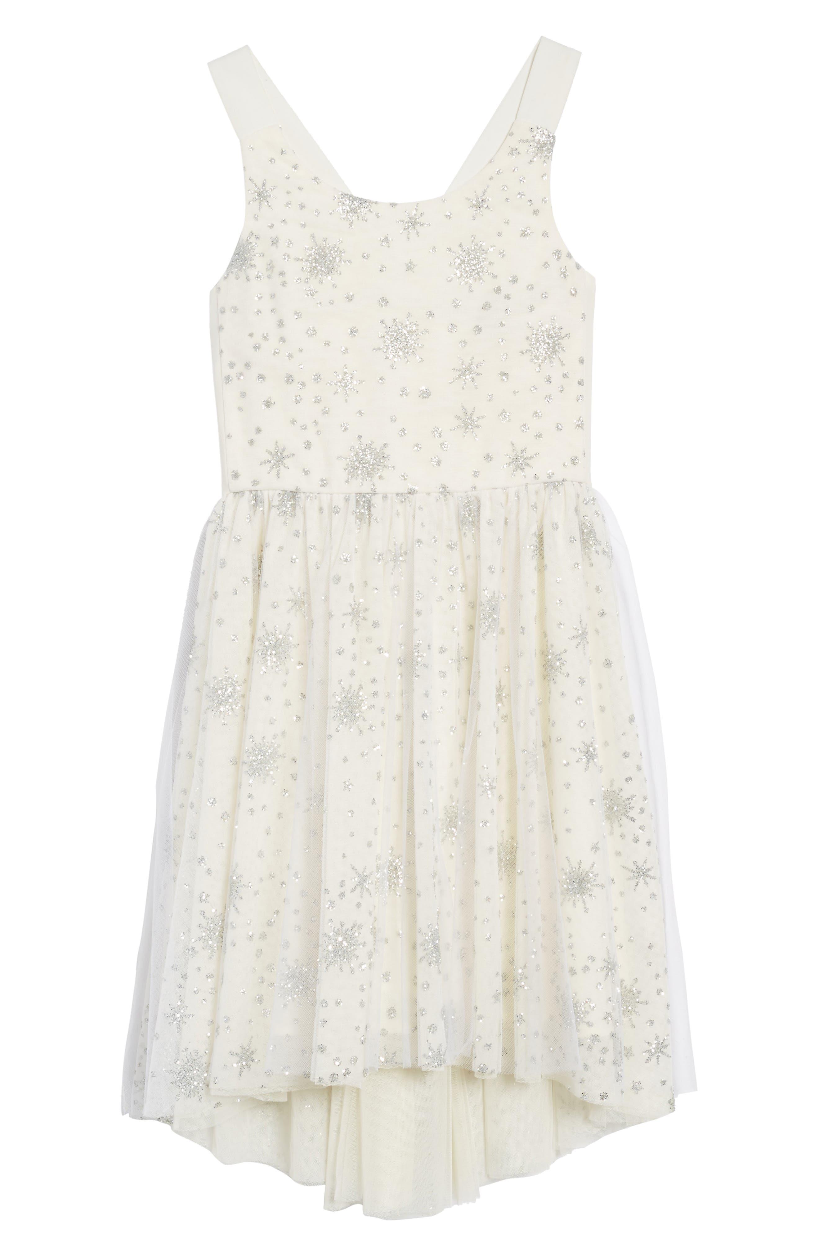 Winter Sparkle Dress,                             Main thumbnail 1, color,                             Cream