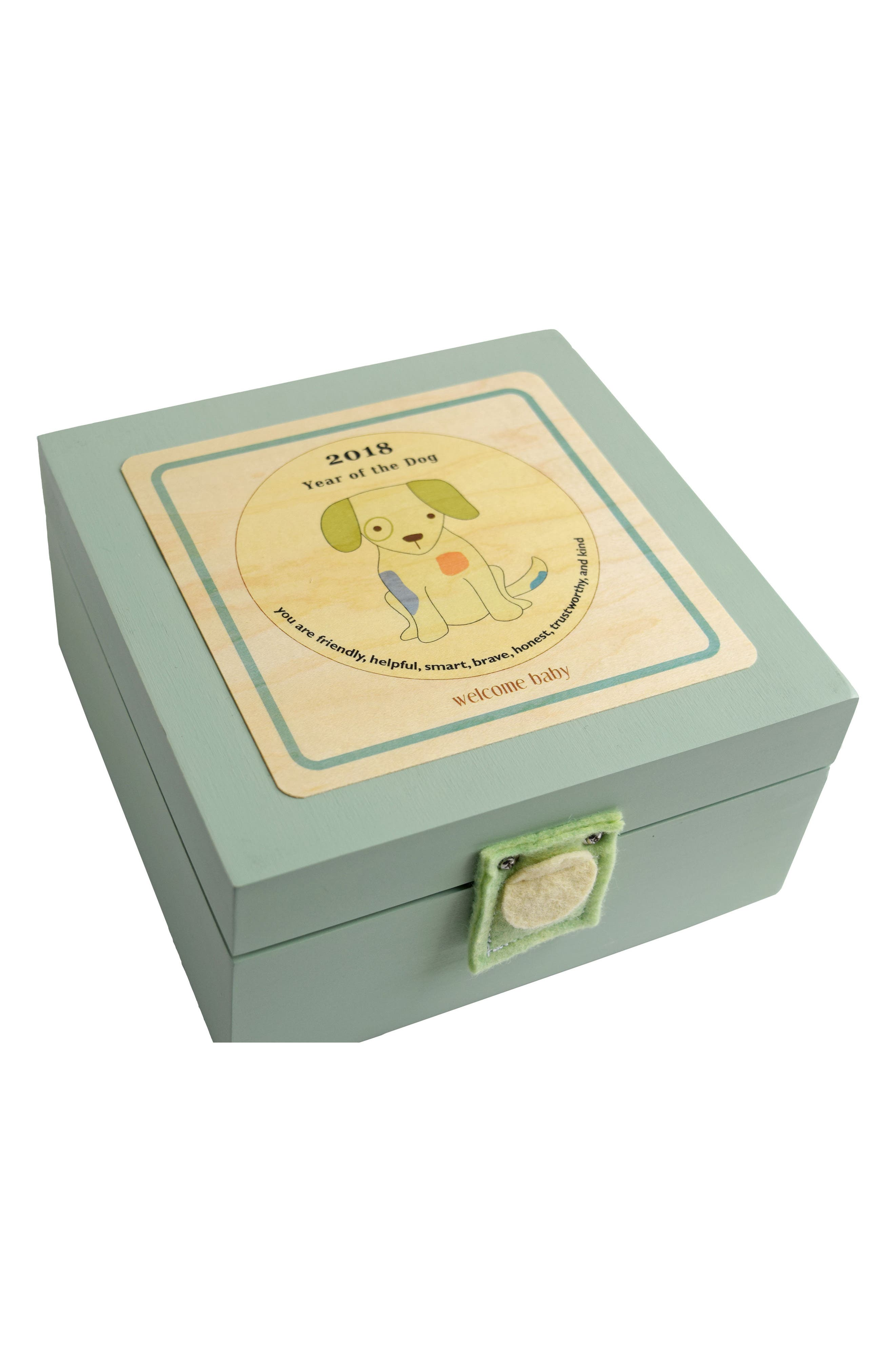 Birth Year Box - 2018 Year of The Dog,                         Main,                         color, Mint