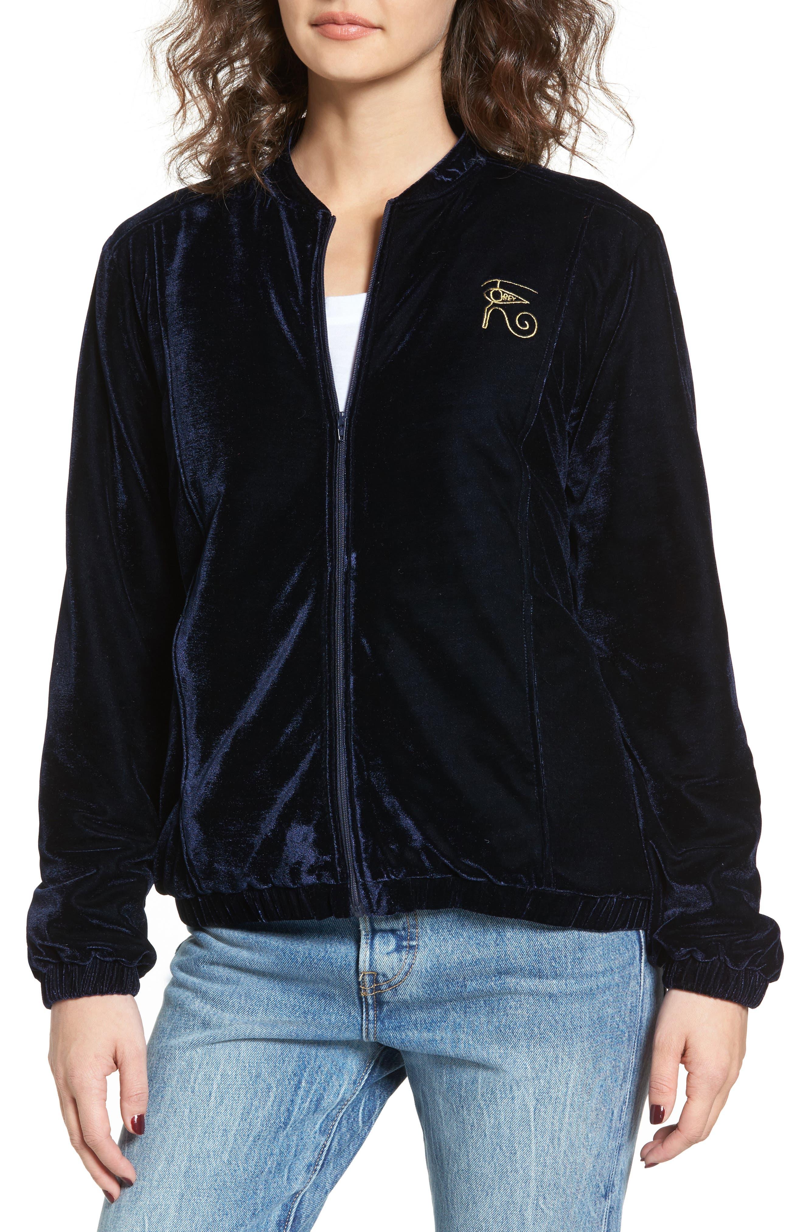 Alternate Image 2  - Obey Spades Velvet Jacket