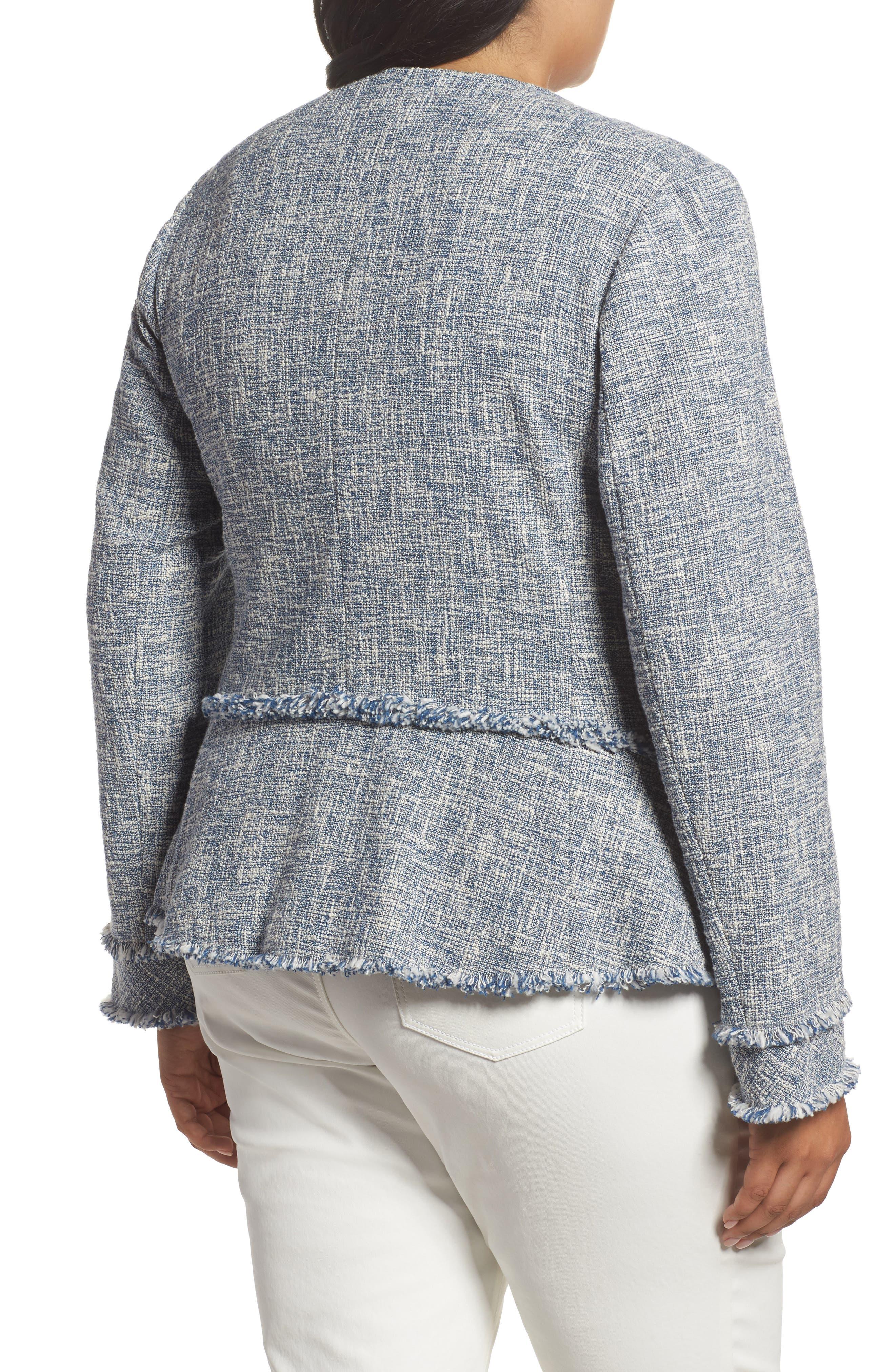 Alternate Image 2  - Lafayette 148 New York Owen Tweed Jacket (Plus Size)
