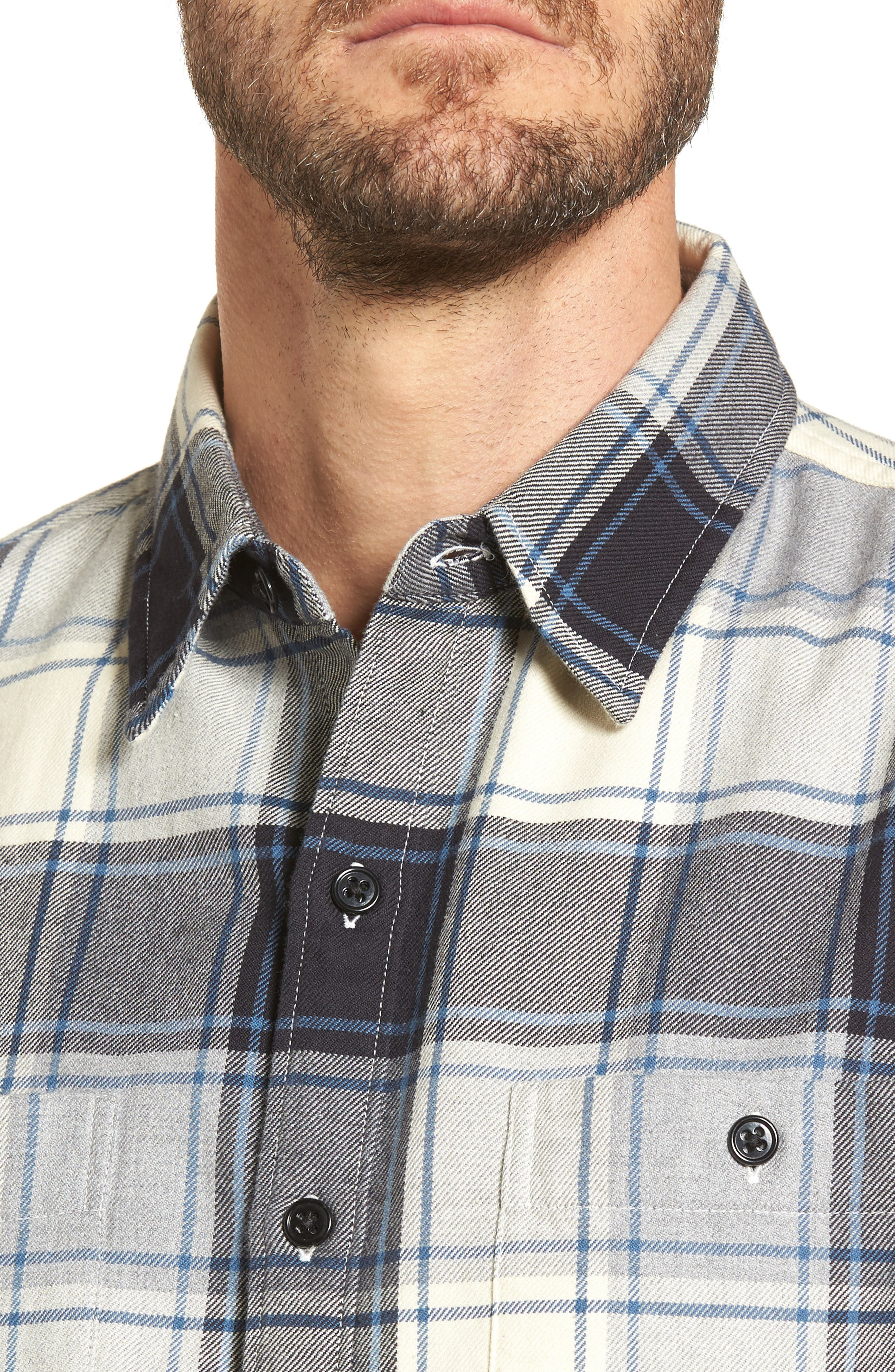 Slim Fit Plaid Flannel Shirt,                             Alternate thumbnail 4, color,                             House Flannel/ Real Teal