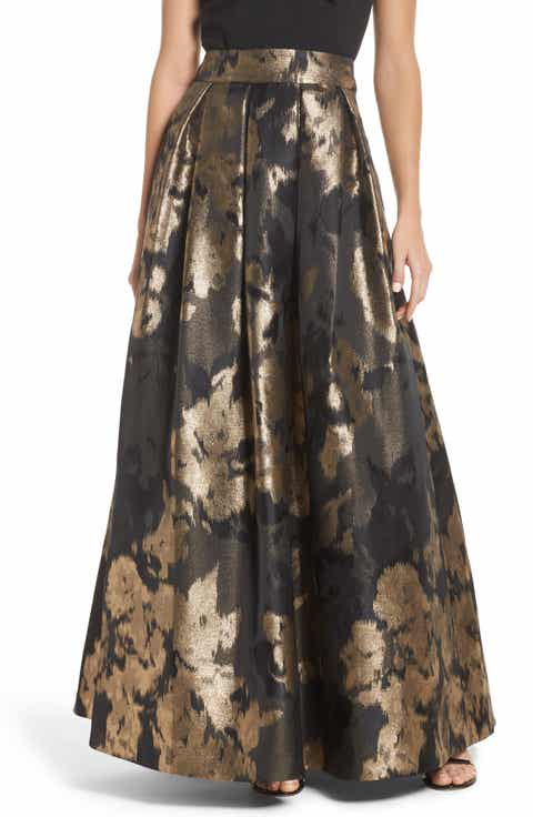 Eliza J Metallic Jacquard Ball Skirt