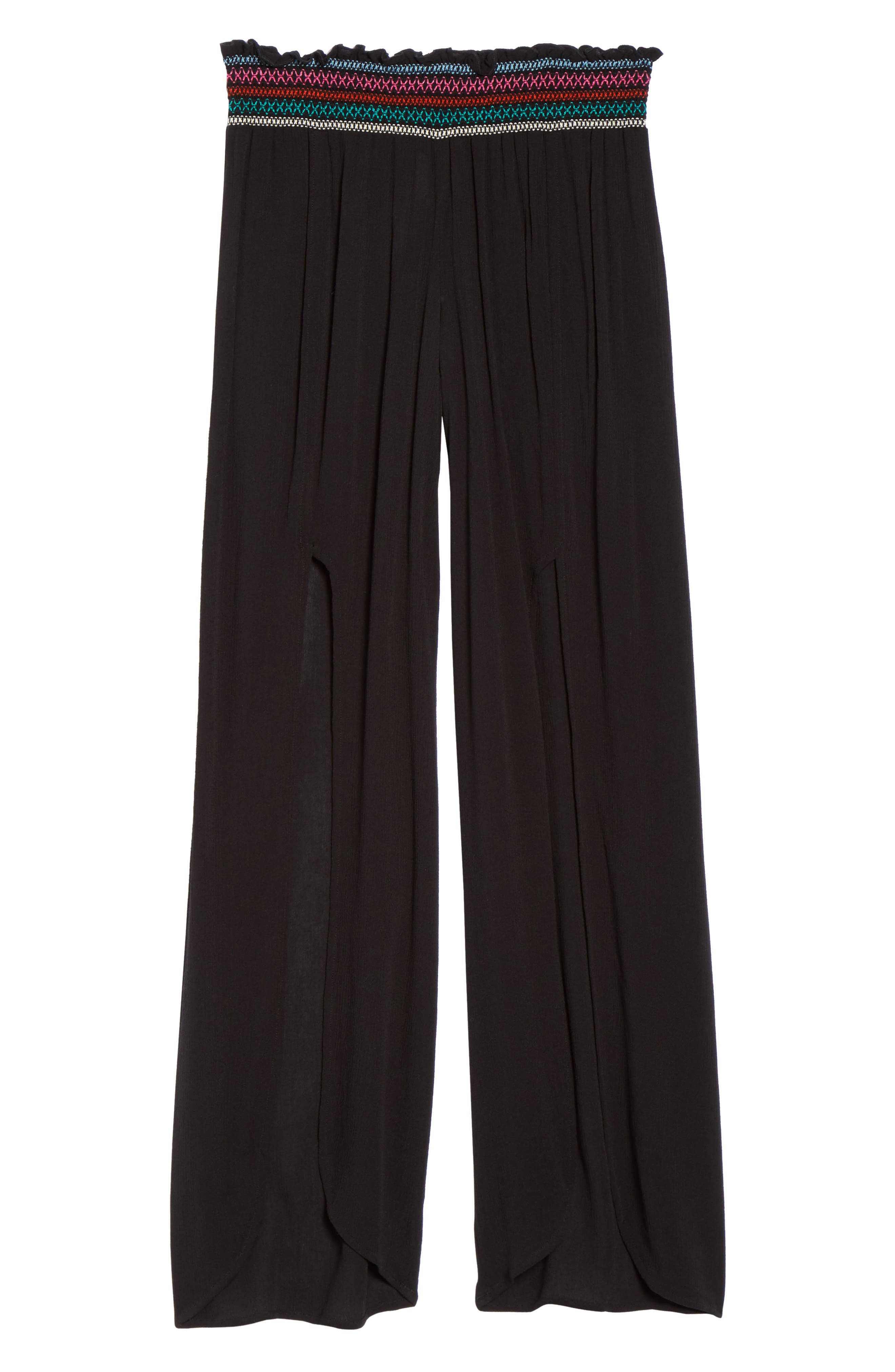Crystal Cove Cover-Up Pants,                             Alternate thumbnail 6, color,                             Black
