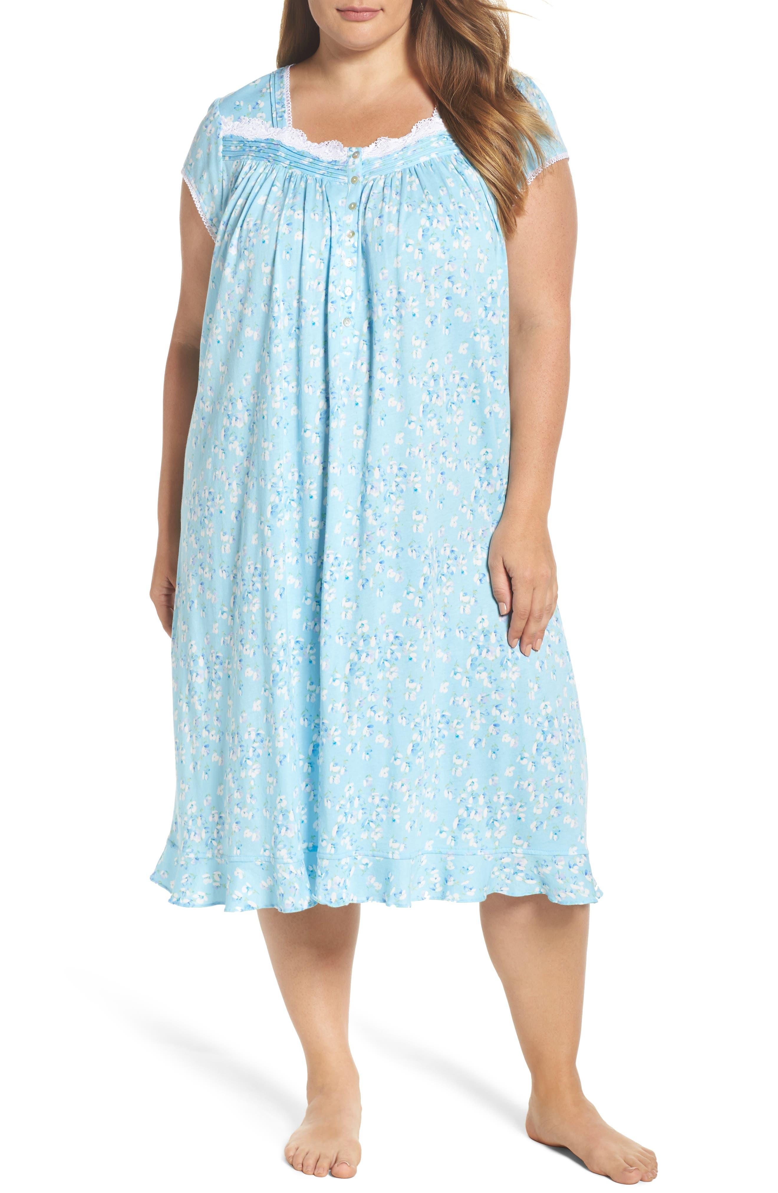 Waltz Nightgown,                         Main,                         color, Light Sea Glass/ Multi Floral