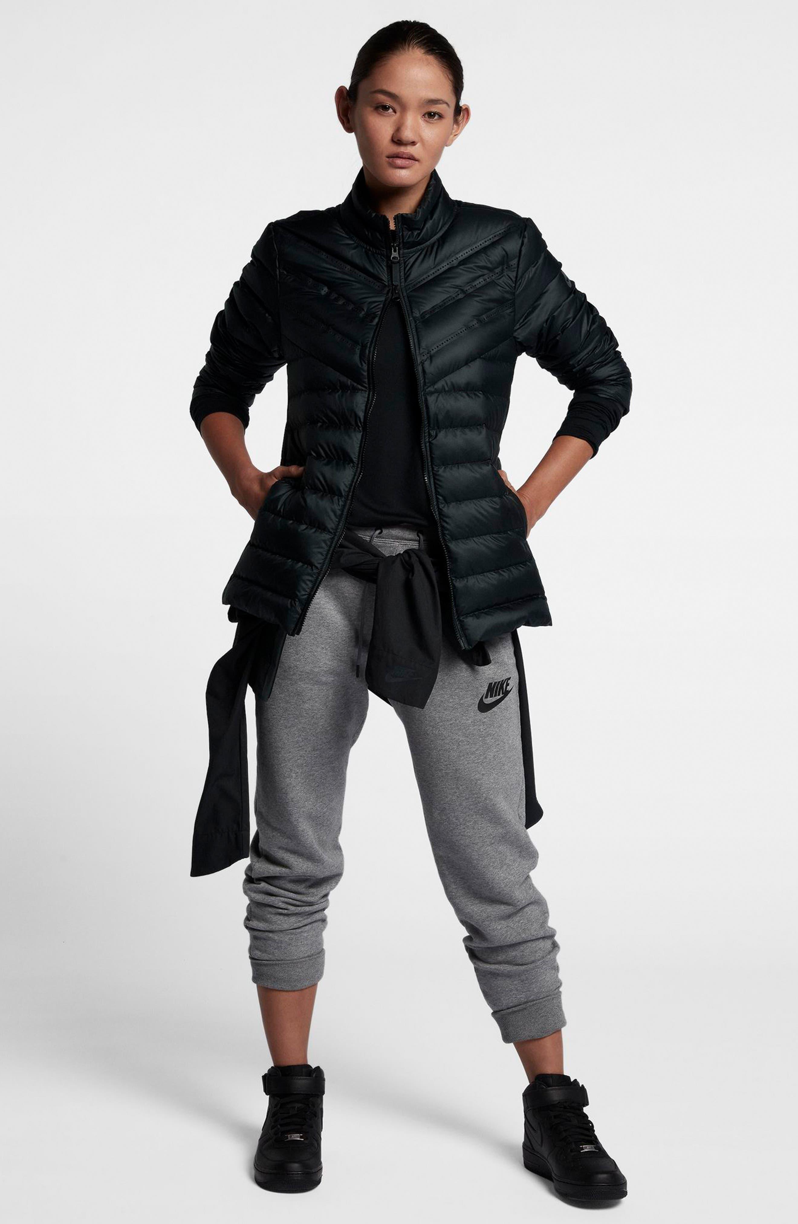 Sportswear AeroLoft 3-in-1 Down Jacket,                             Alternate thumbnail 2, color,                             Black/ Black/ Black