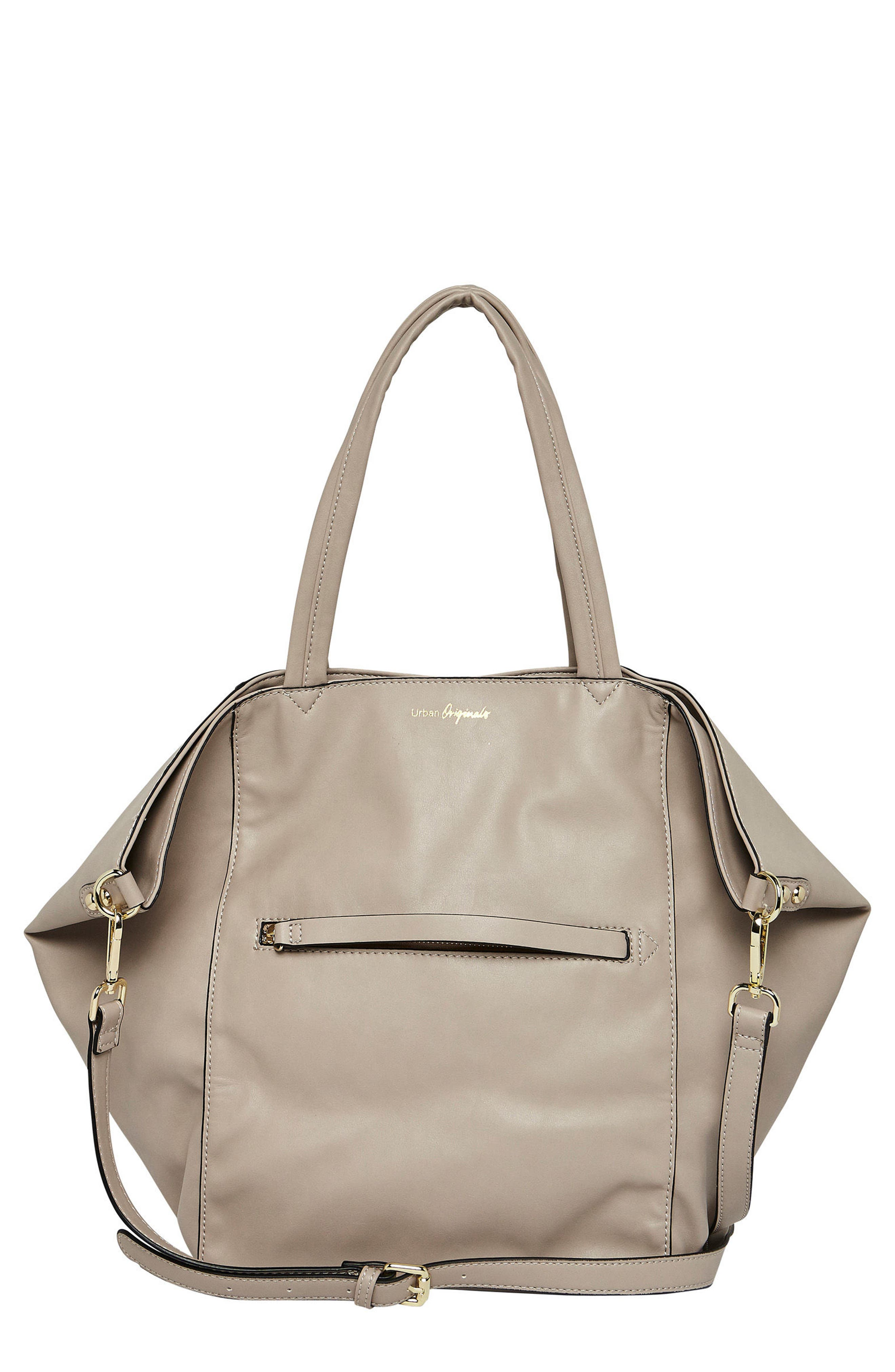 EVERY GIRL VEGAN LEATHER TOTE - GREY