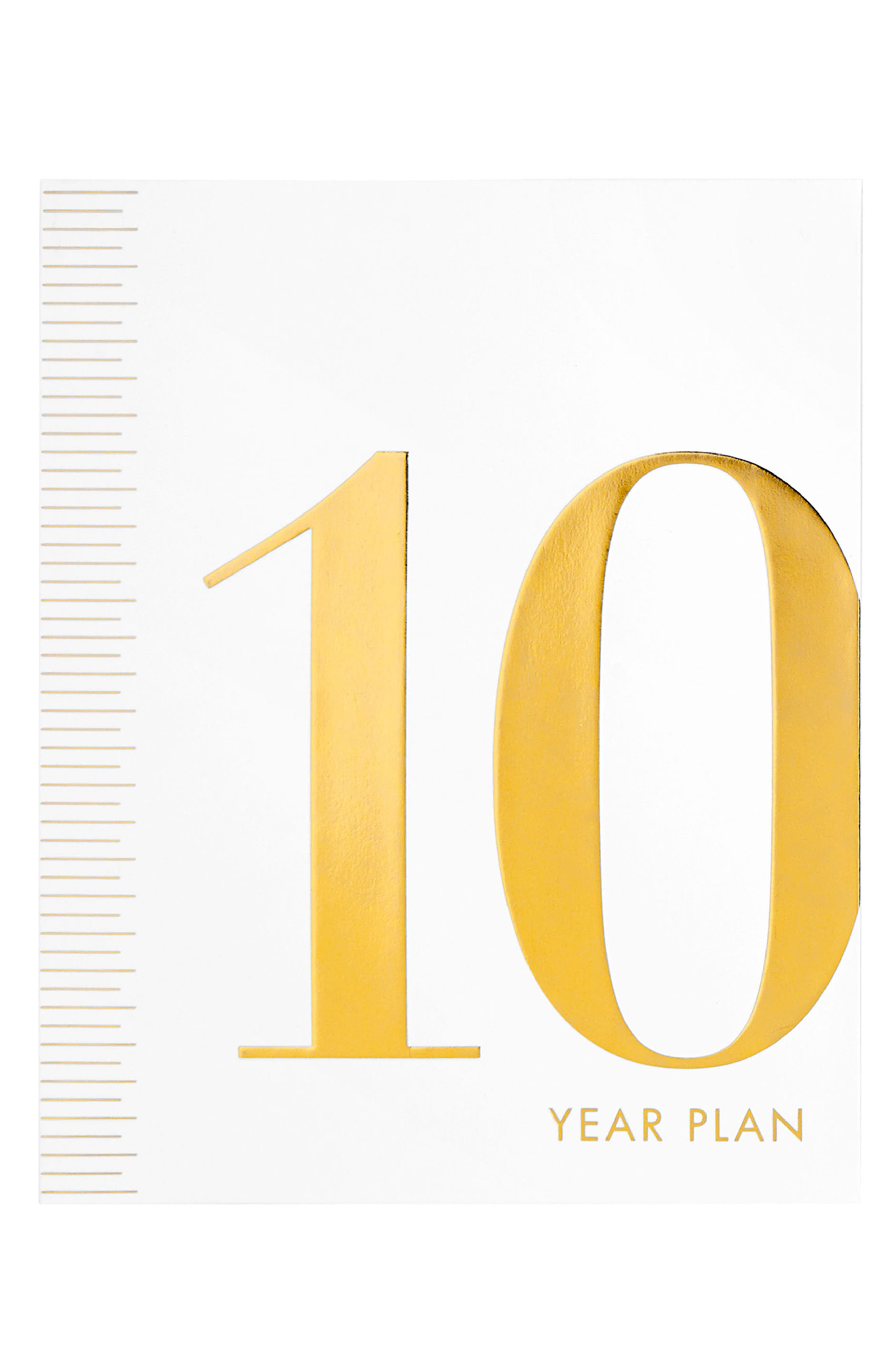 10-Year Plan Journal,                         Main,                         color, White/ Gold