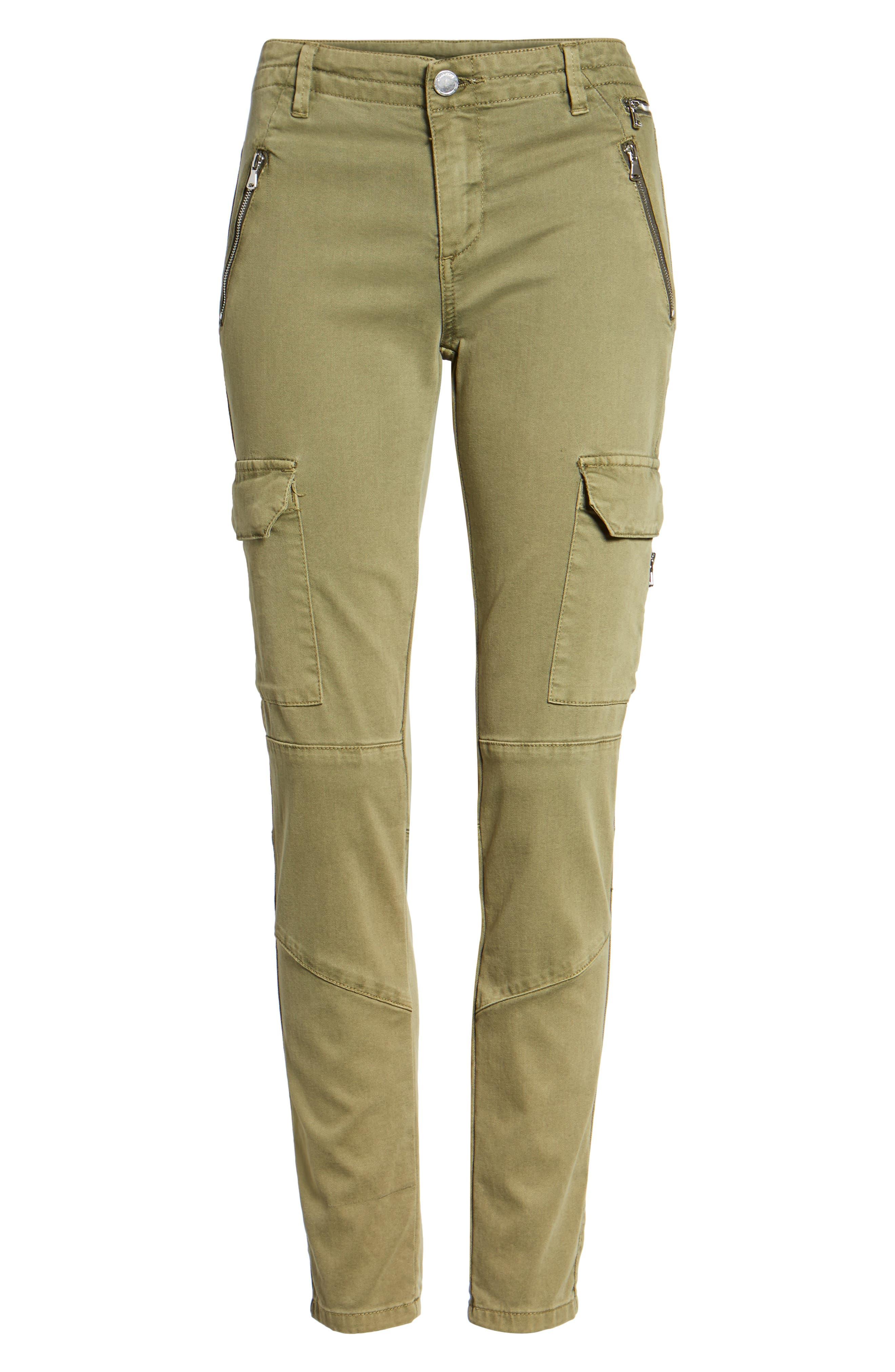 Skinny Cargo Pants,                             Alternate thumbnail 6, color,                             Olive