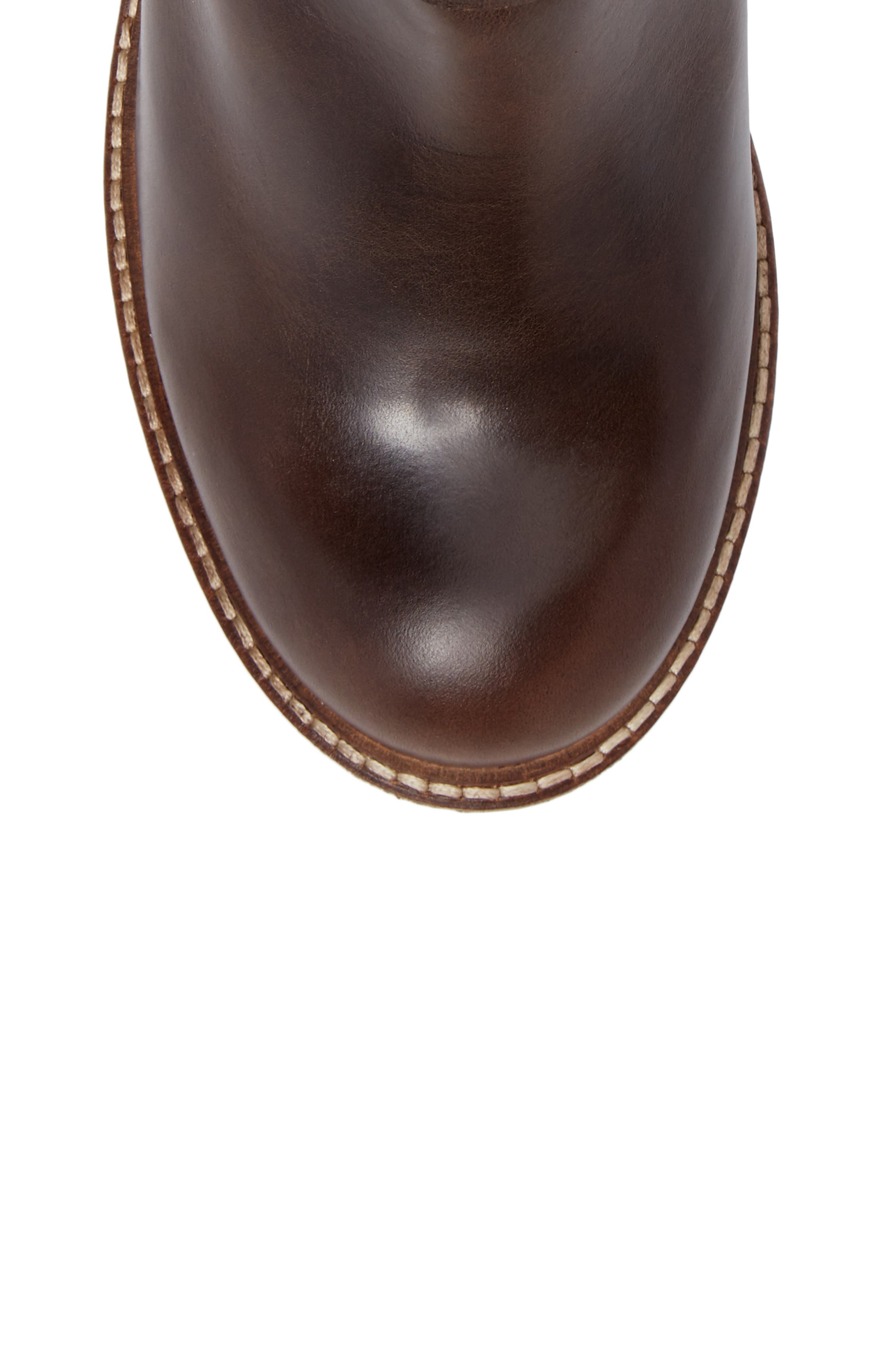 Sasi Waterproof Gore-Tex<sup>®</sup> Boot,                             Alternate thumbnail 5, color,                             Dark Brown Rug Leather