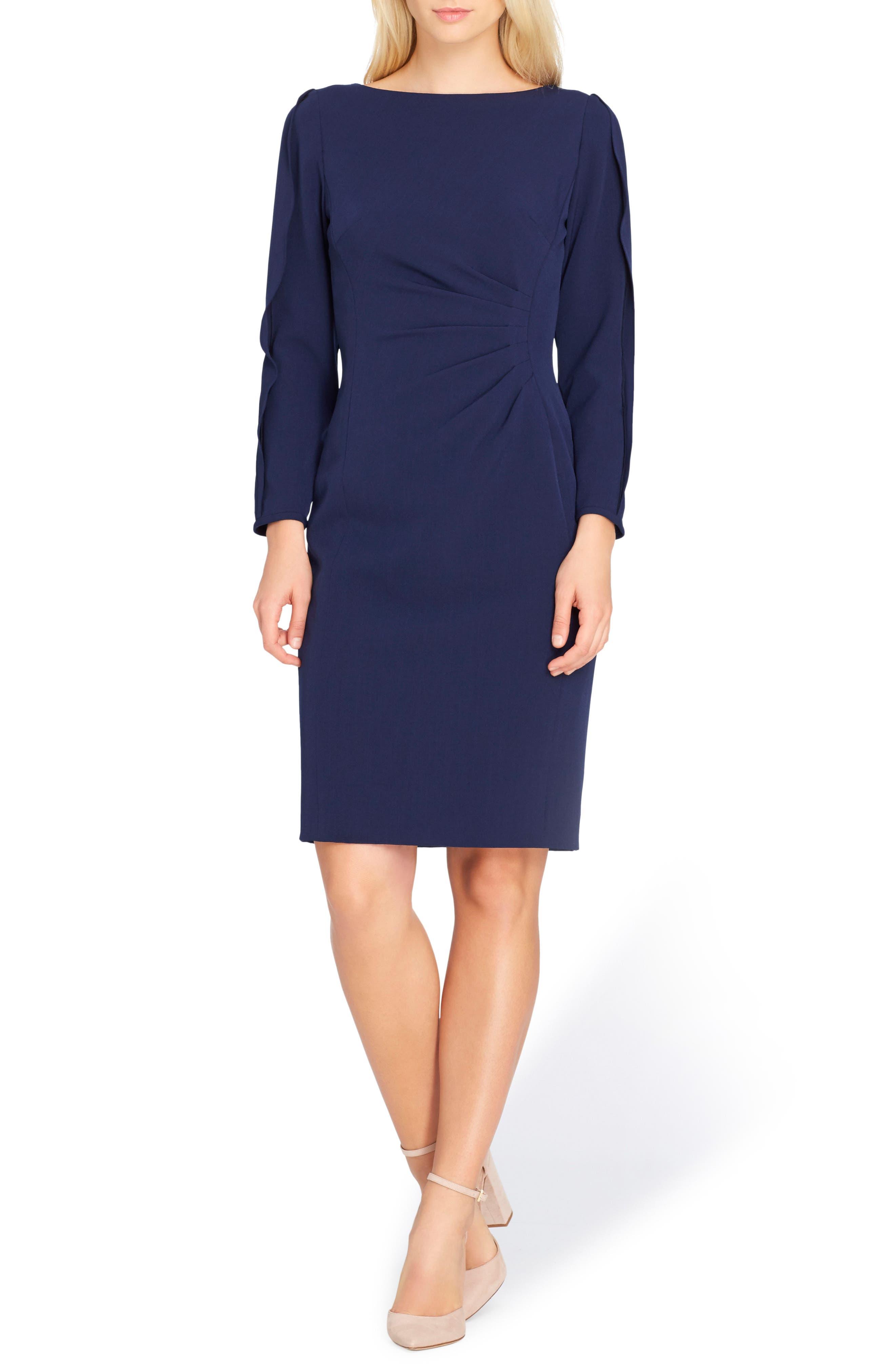 Split Sleeve Sheath Dress,                             Main thumbnail 1, color,                             New Blue
