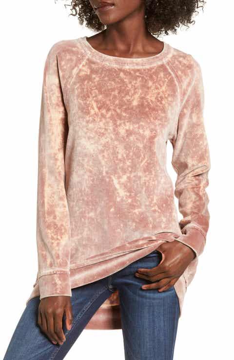 BP. Washed Velour Tunic Sweatshirt