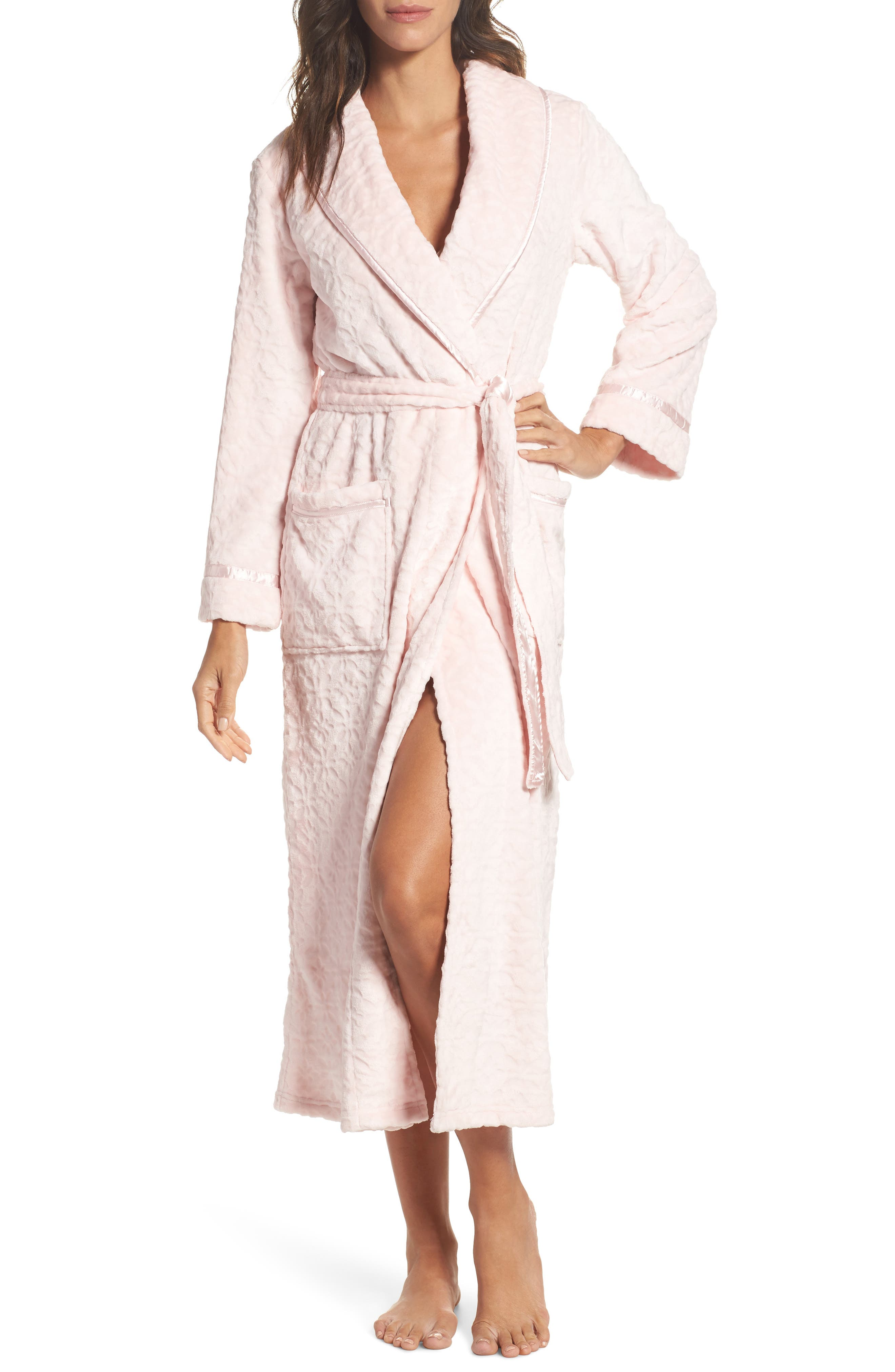 Oscar de la Renta Sleepwear Long Fleece Robe