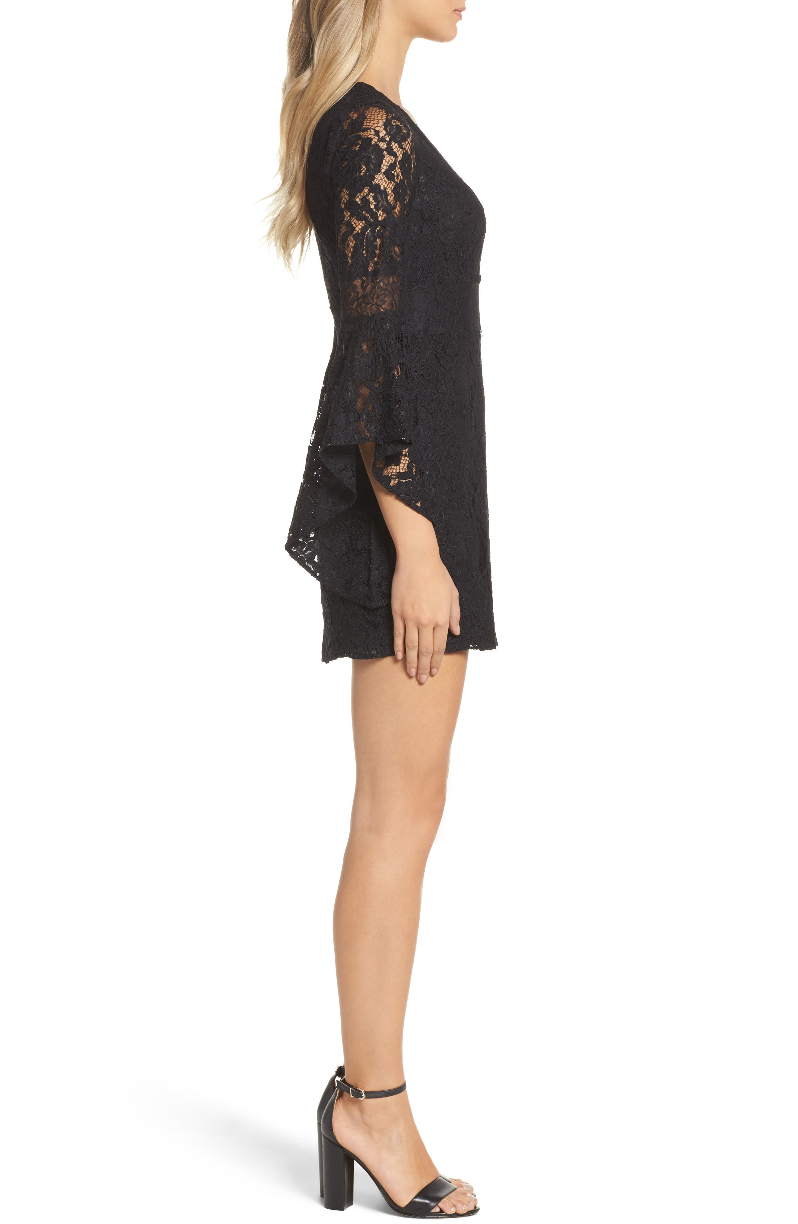 Alternate Image 4  - Ali & Jay Le Fete Lace Bell Sleeve Dress