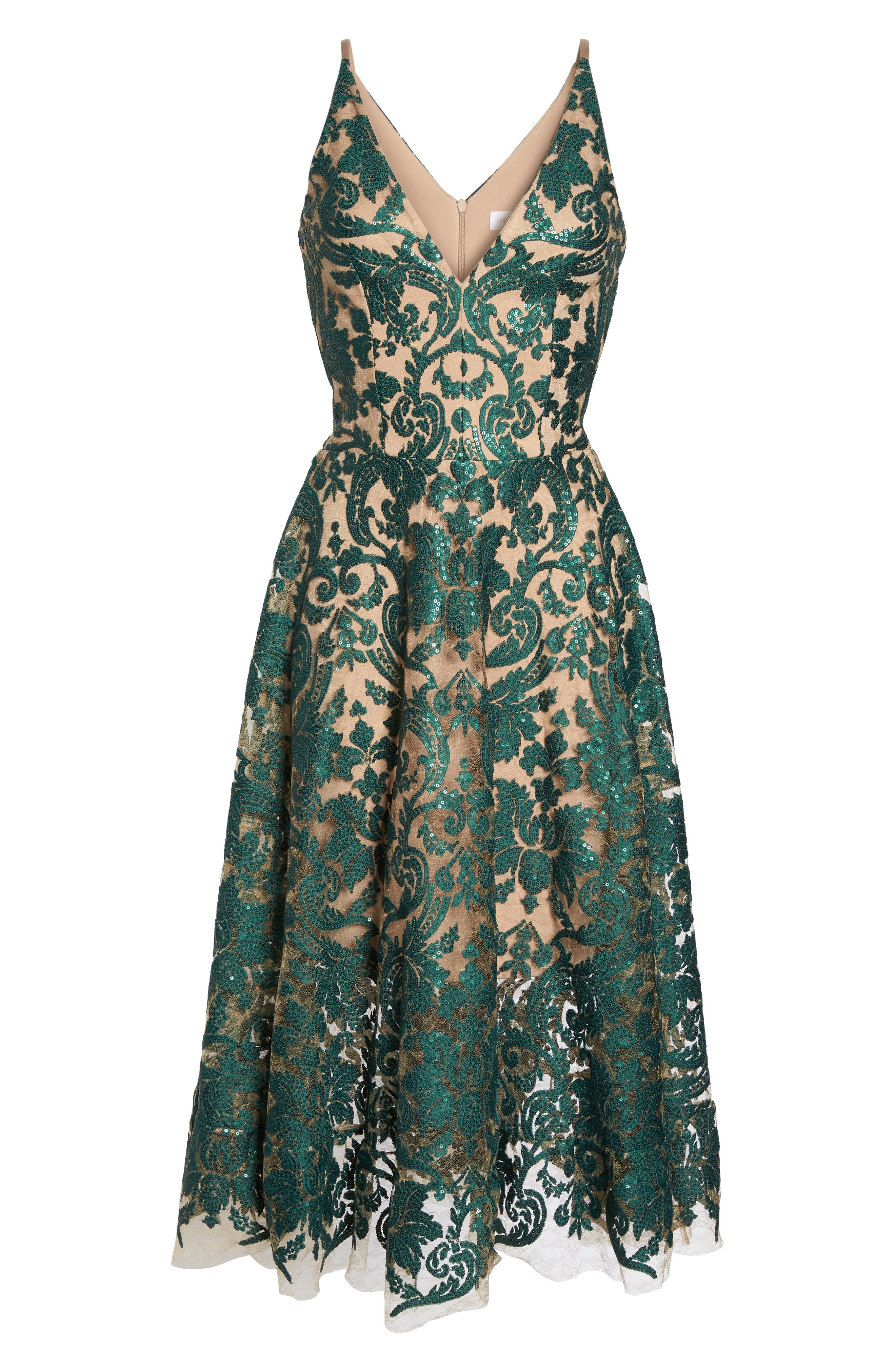 Alternate Image 7  - Dress the Population Blair Embellished Fit & Flare Dress