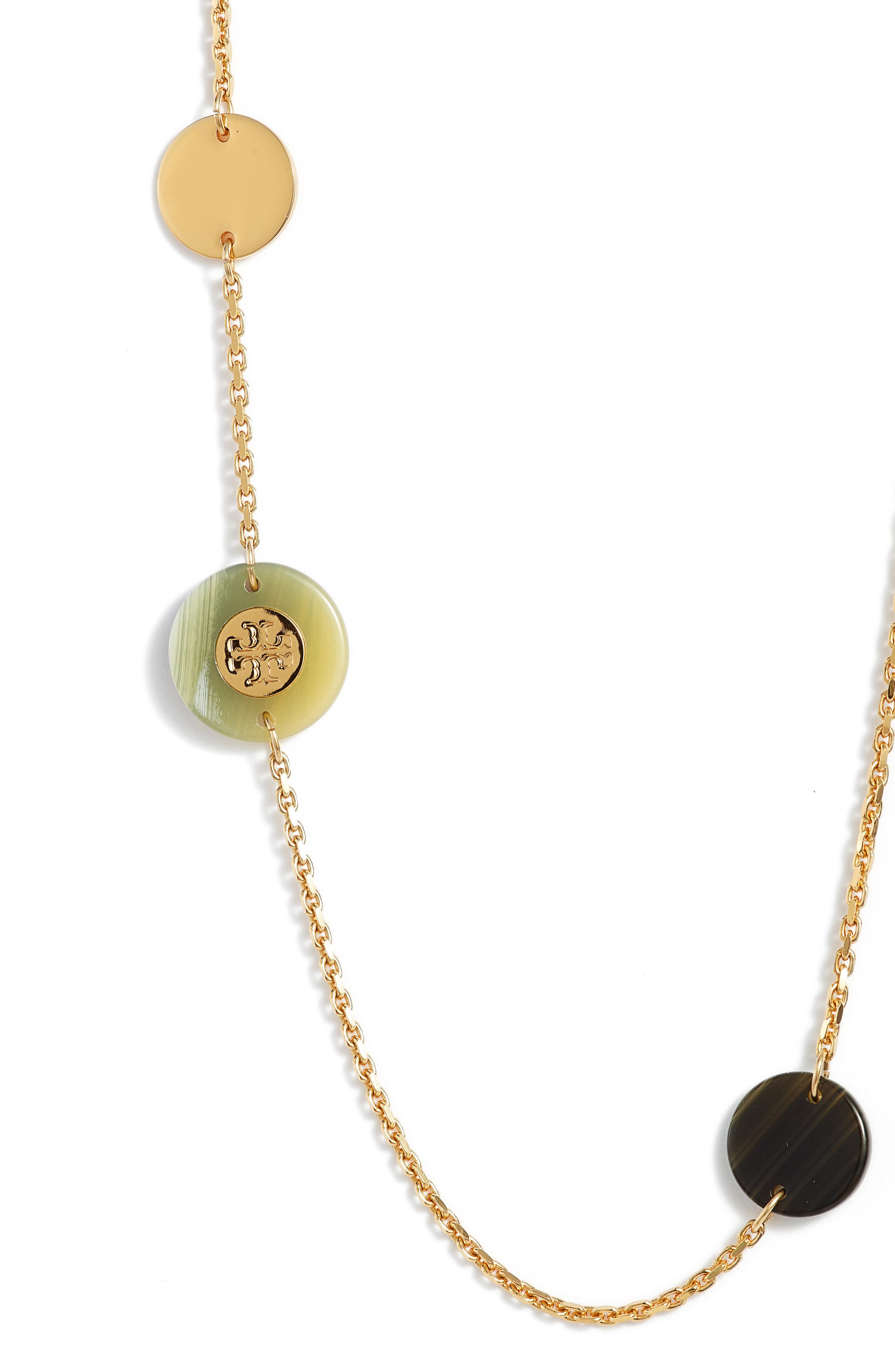 Alternate Image 2  - Tory Burch Colorblock Rosary Station Necklace