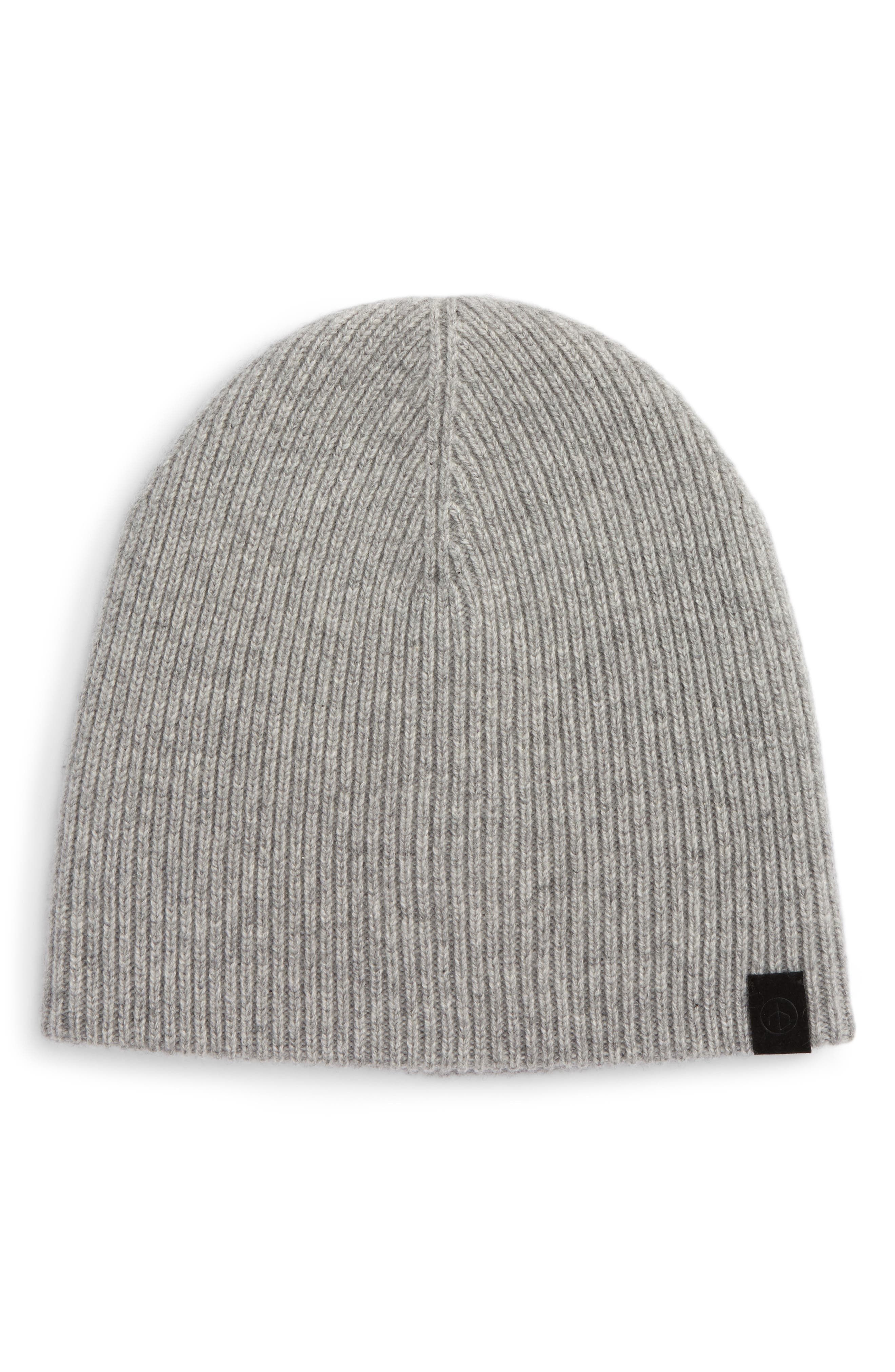 Ace Cashmere Knit Cap,                         Main,                         color, Grey