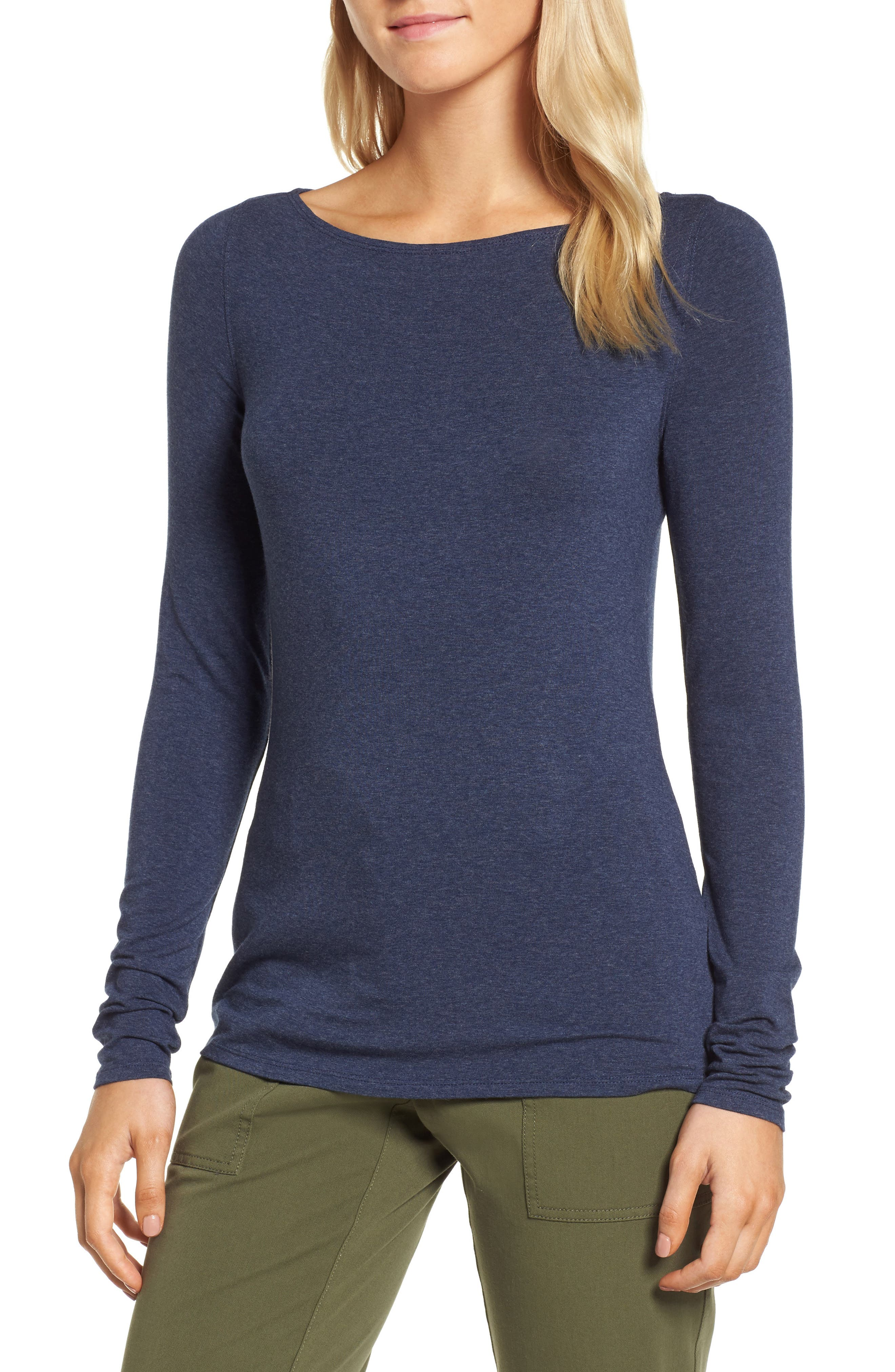 Alternate Image 1 Selected - Nordstrom Signature Long Sleeve Bateau Neck Tee