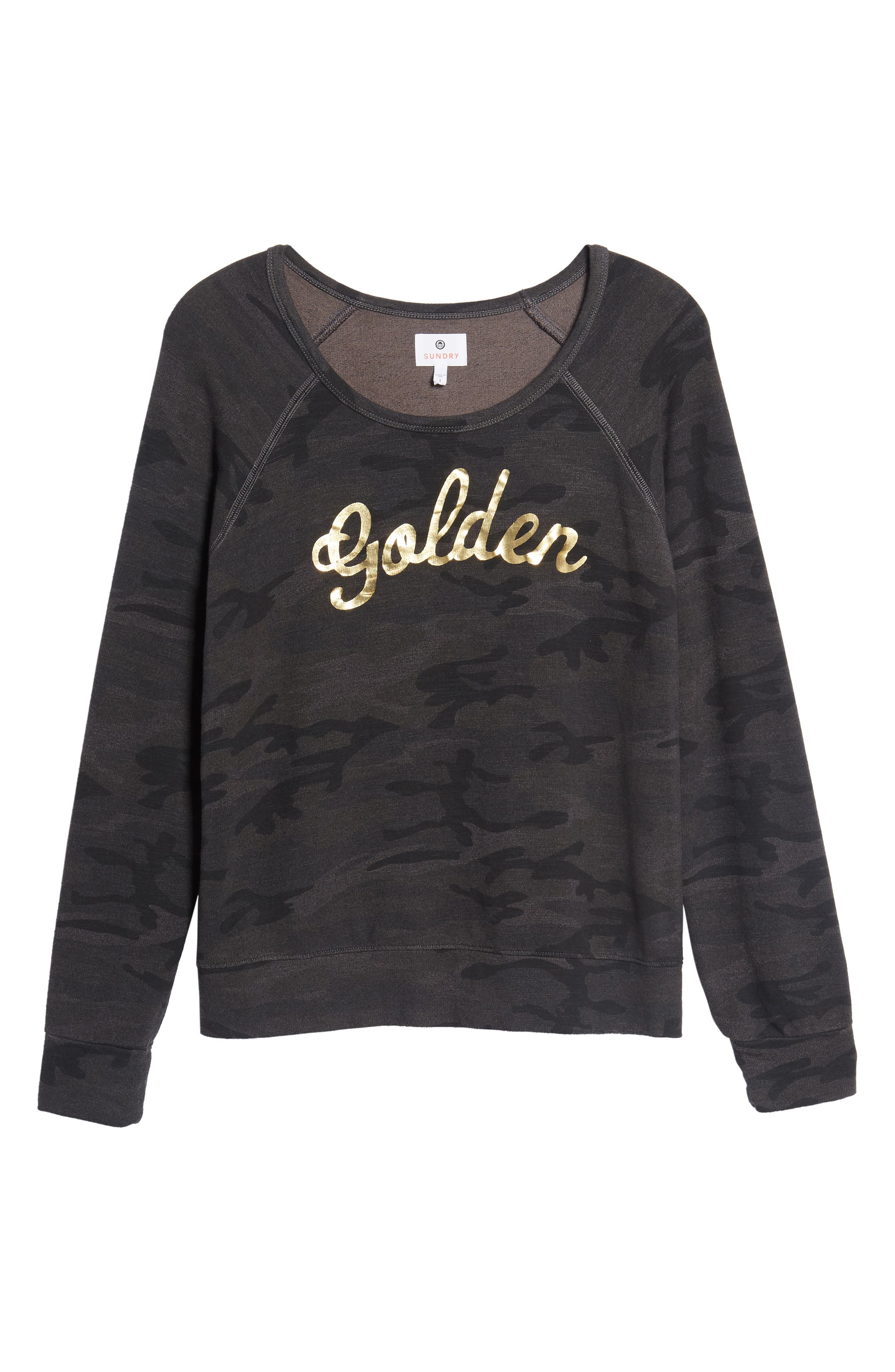 Active Golden Sweatshirt,                             Alternate thumbnail 6, color,                             Charcoal