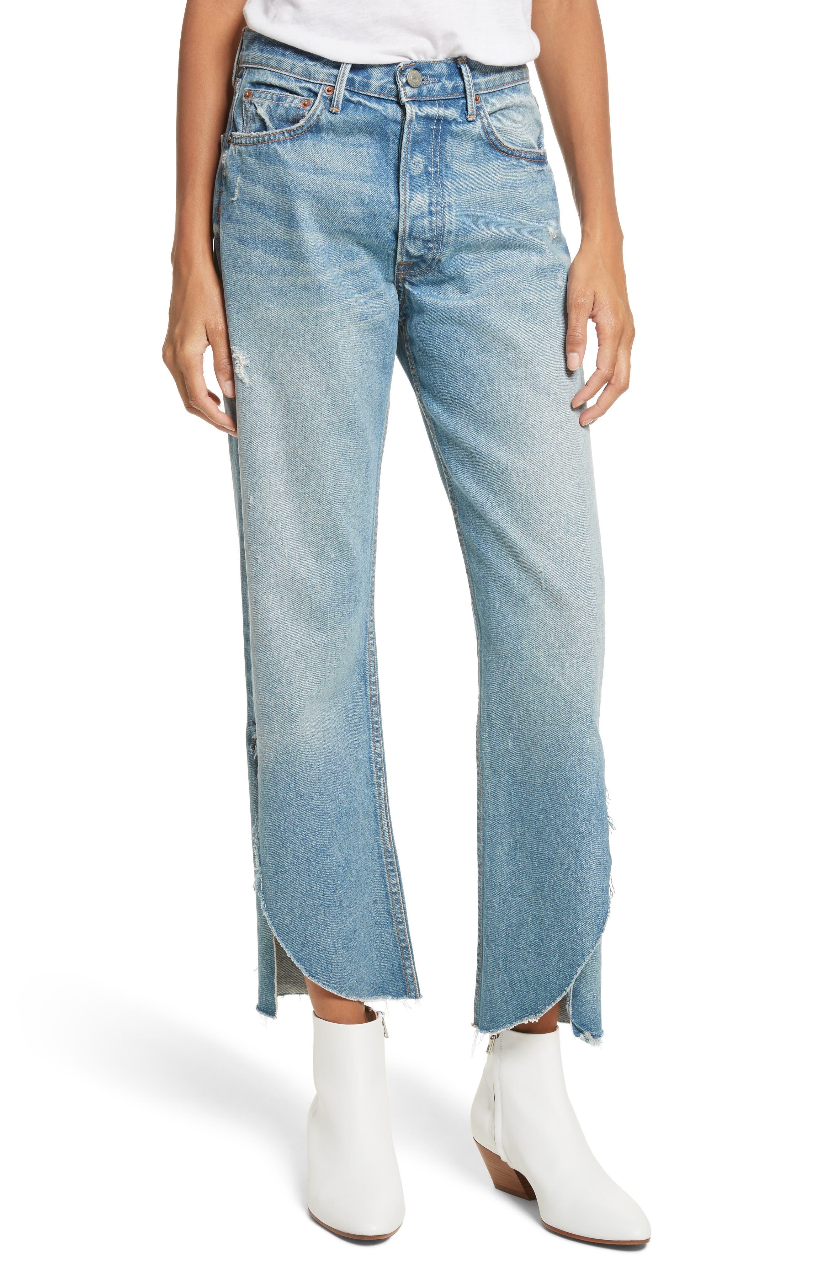GRLFRND Maran Wide Leg Crop Jeans (Archaic)