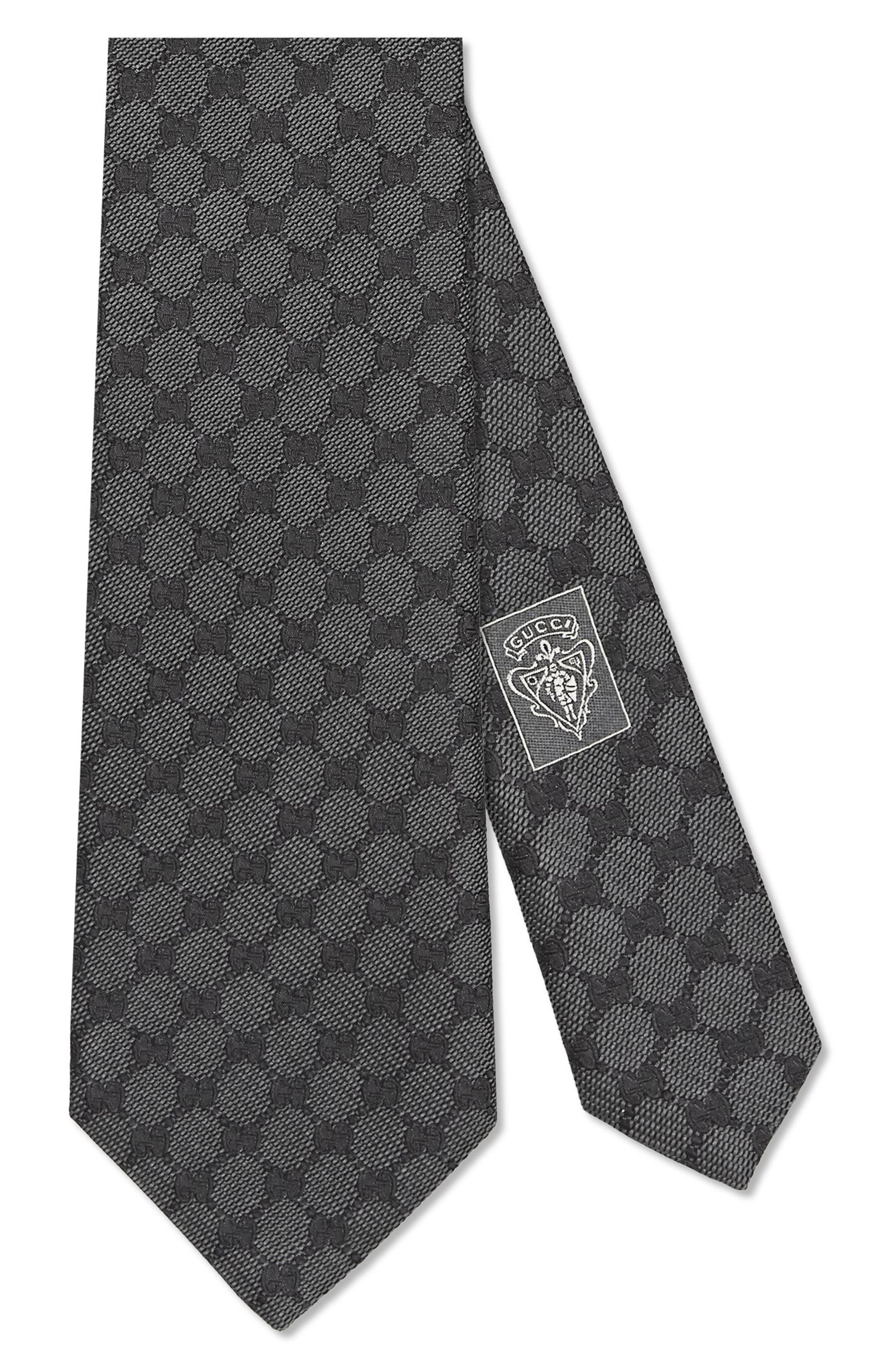 Main Image - Gucci Arend Print Silk Tie