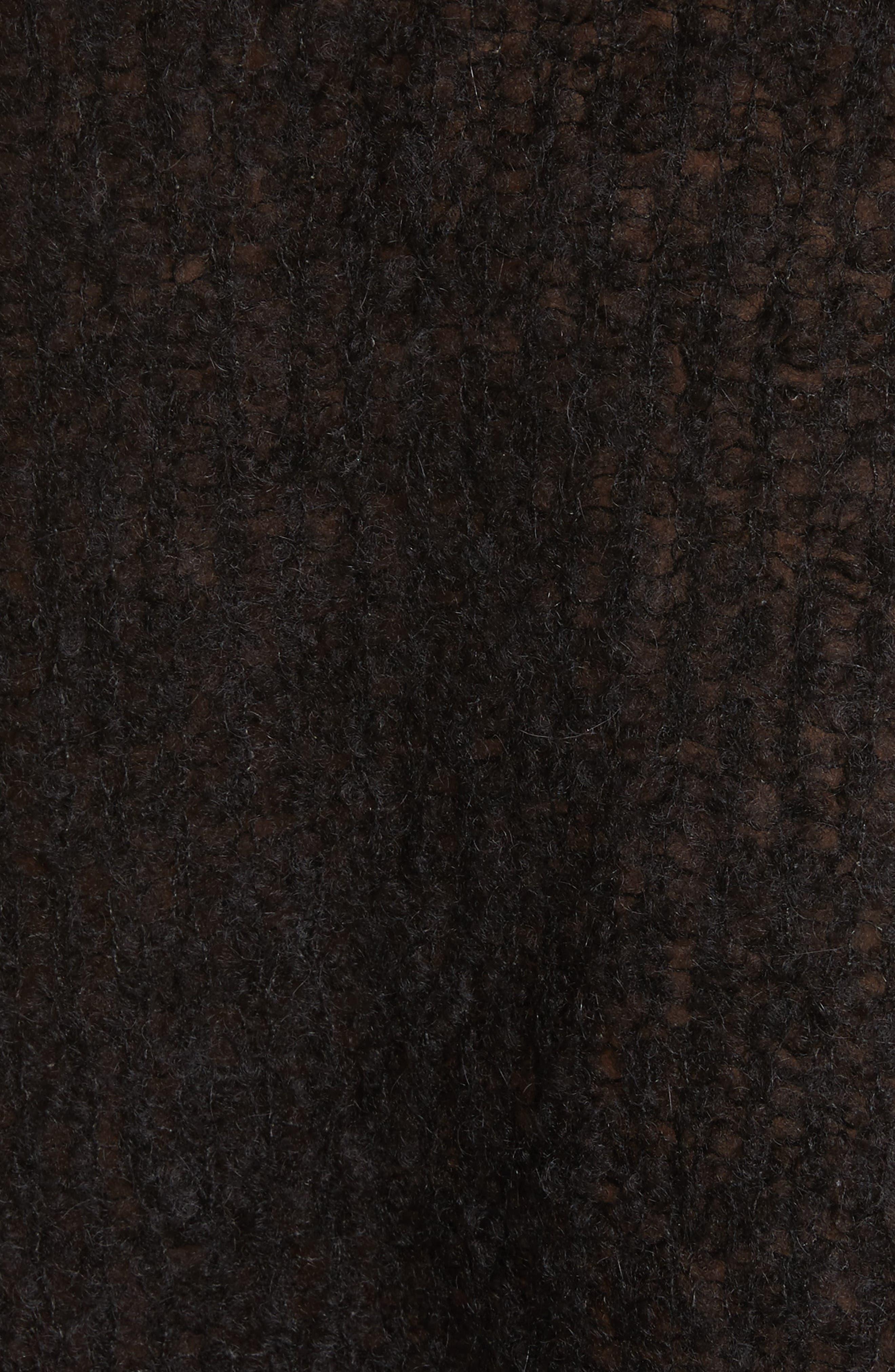 Freda Alpaca Blend Sweater,                             Alternate thumbnail 5, color,                             Black