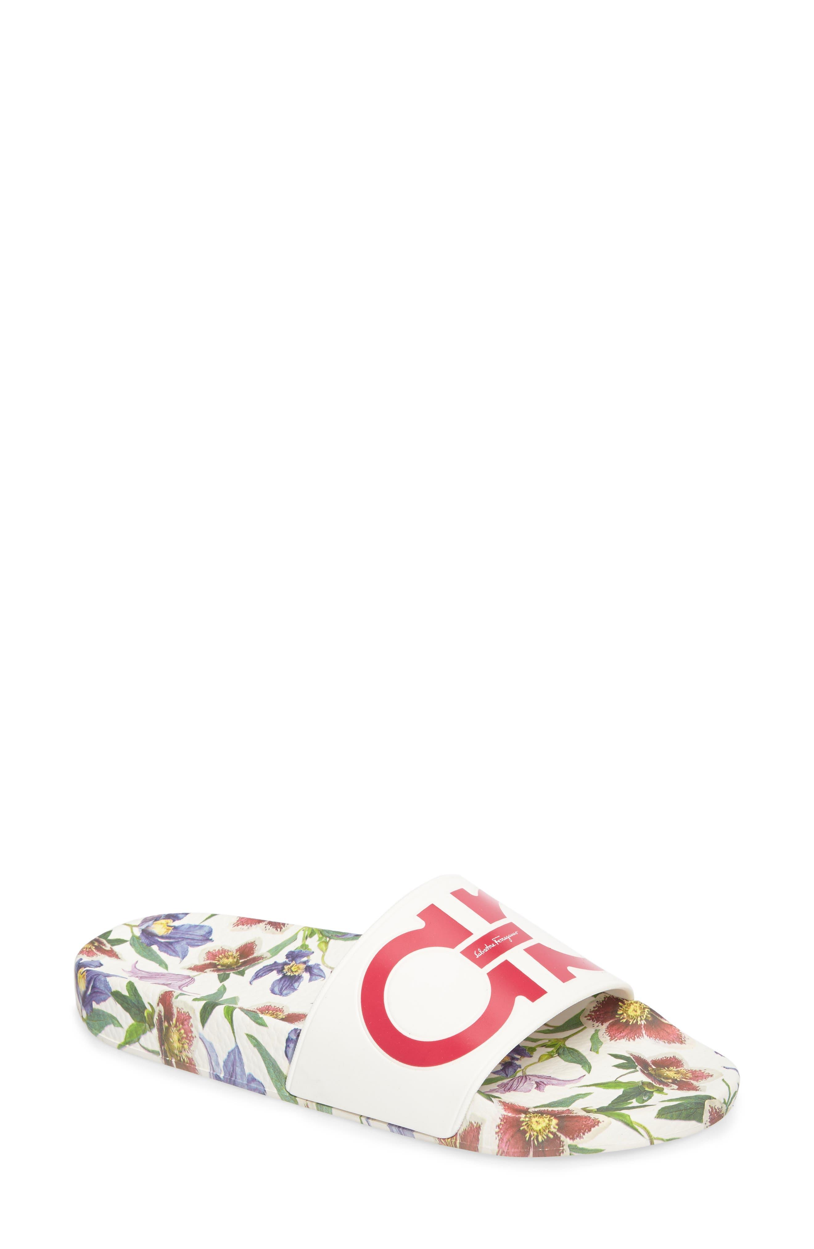 Salvatore Ferragamo Groove Slide Sandal (Women)