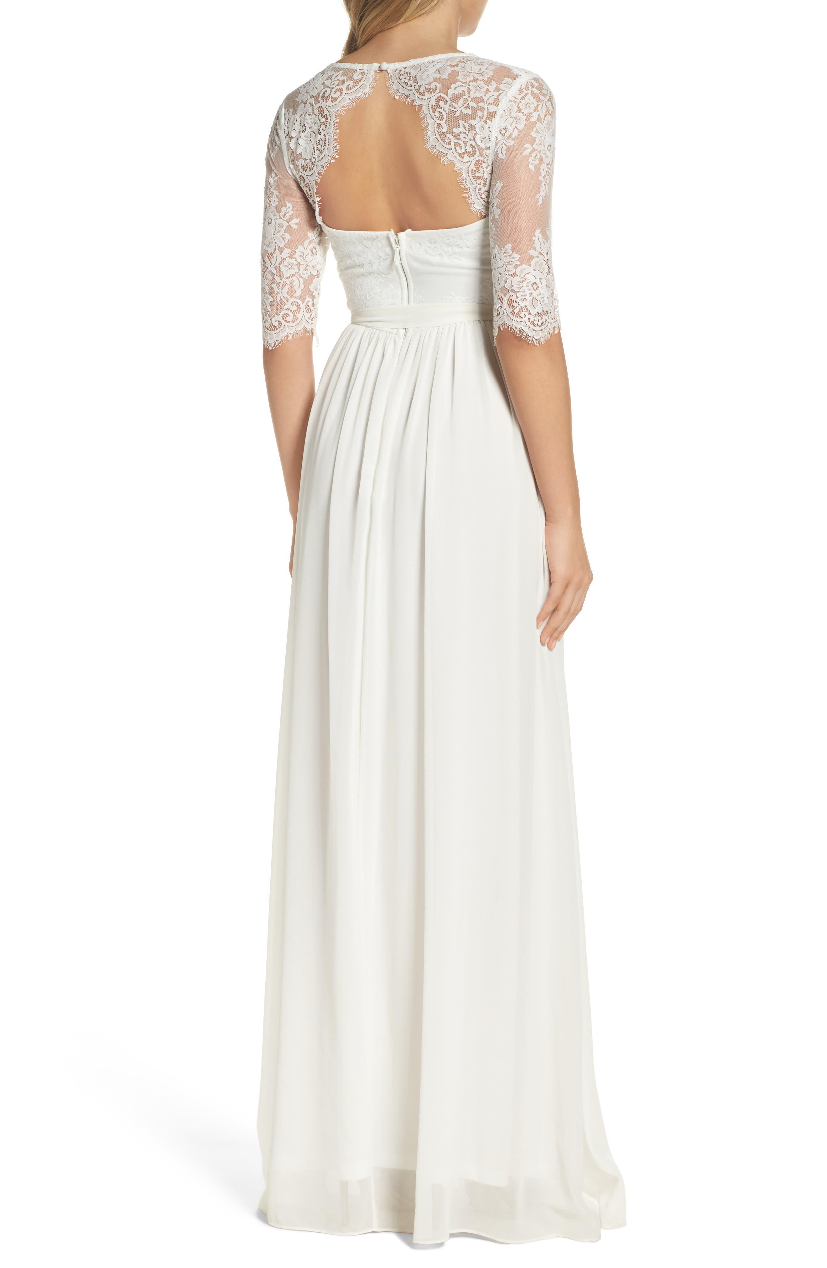 Alternate Image 2  - Lulus Sweetheart Chiffon Gown