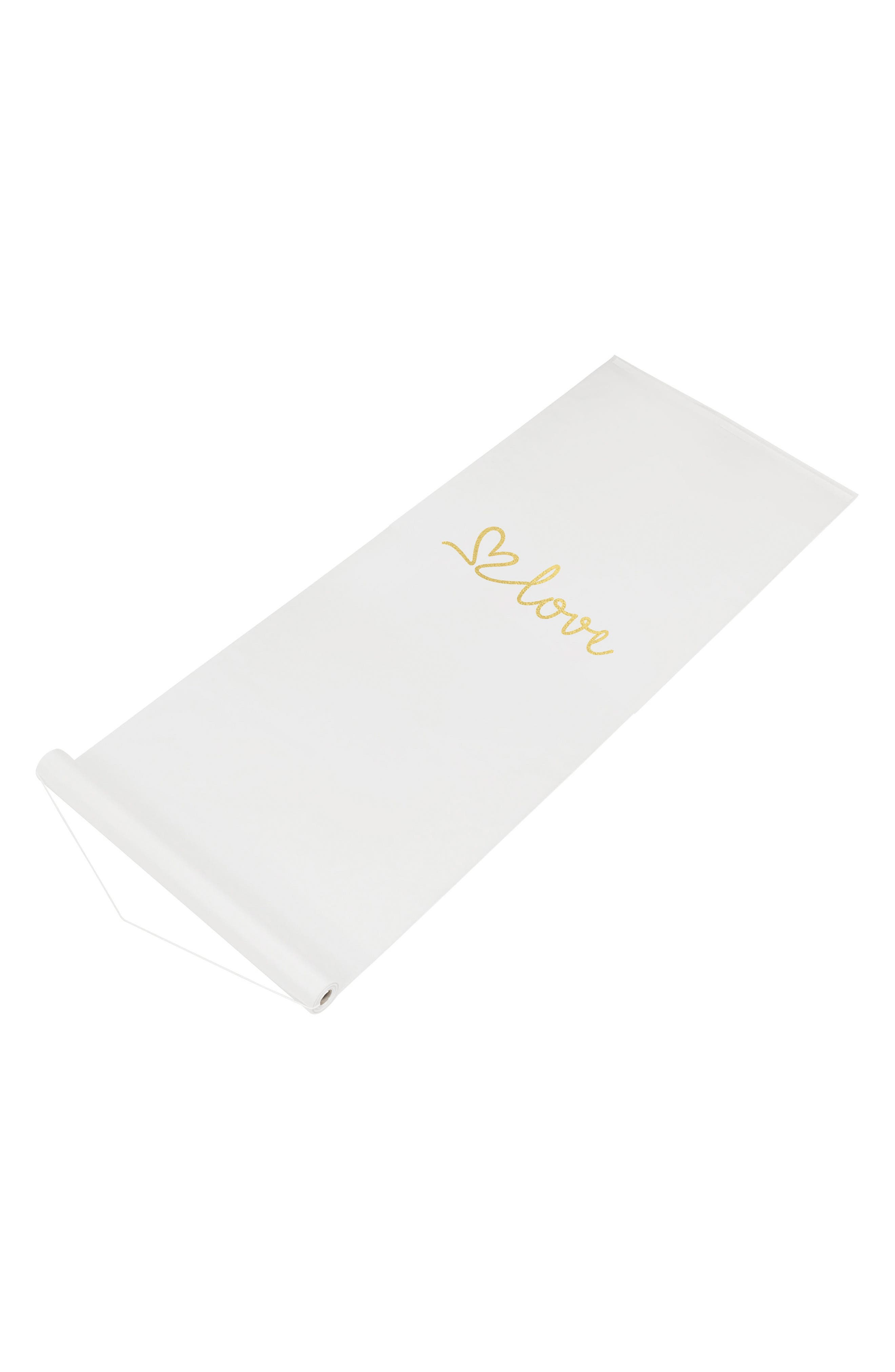 Love Wedding Aisle Runner,                         Main,                         color, Gold