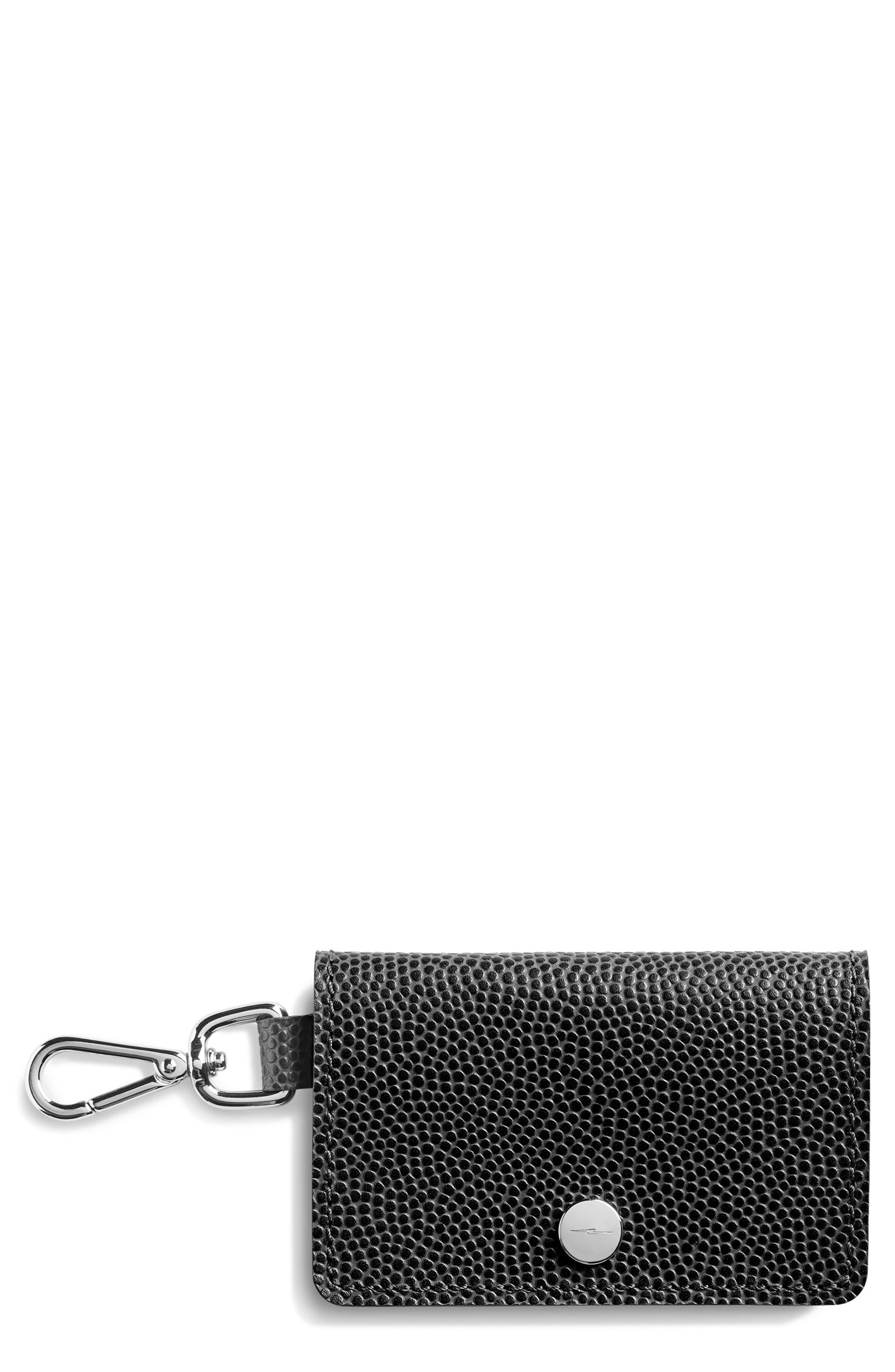 Latigo Leather Card Case,                             Main thumbnail 1, color,                             Black