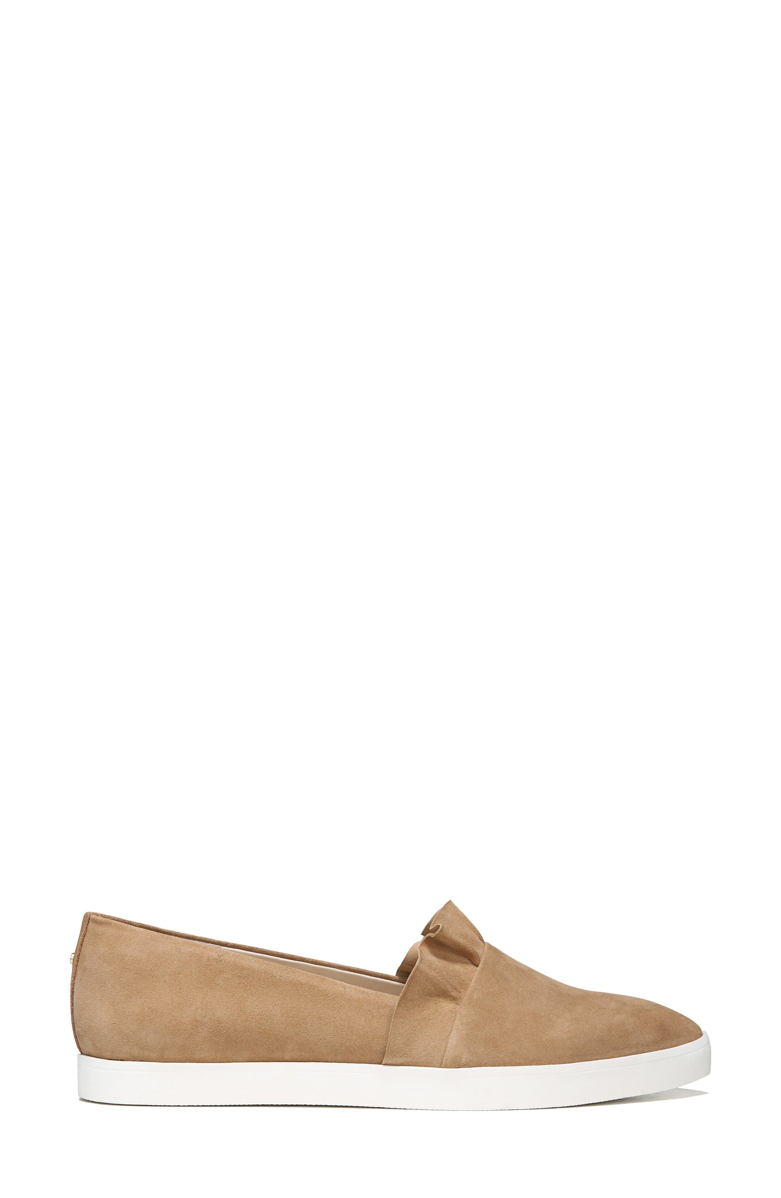 Vienna Slip-On Sneaker,                             Alternate thumbnail 3, color,                             Nude Suede