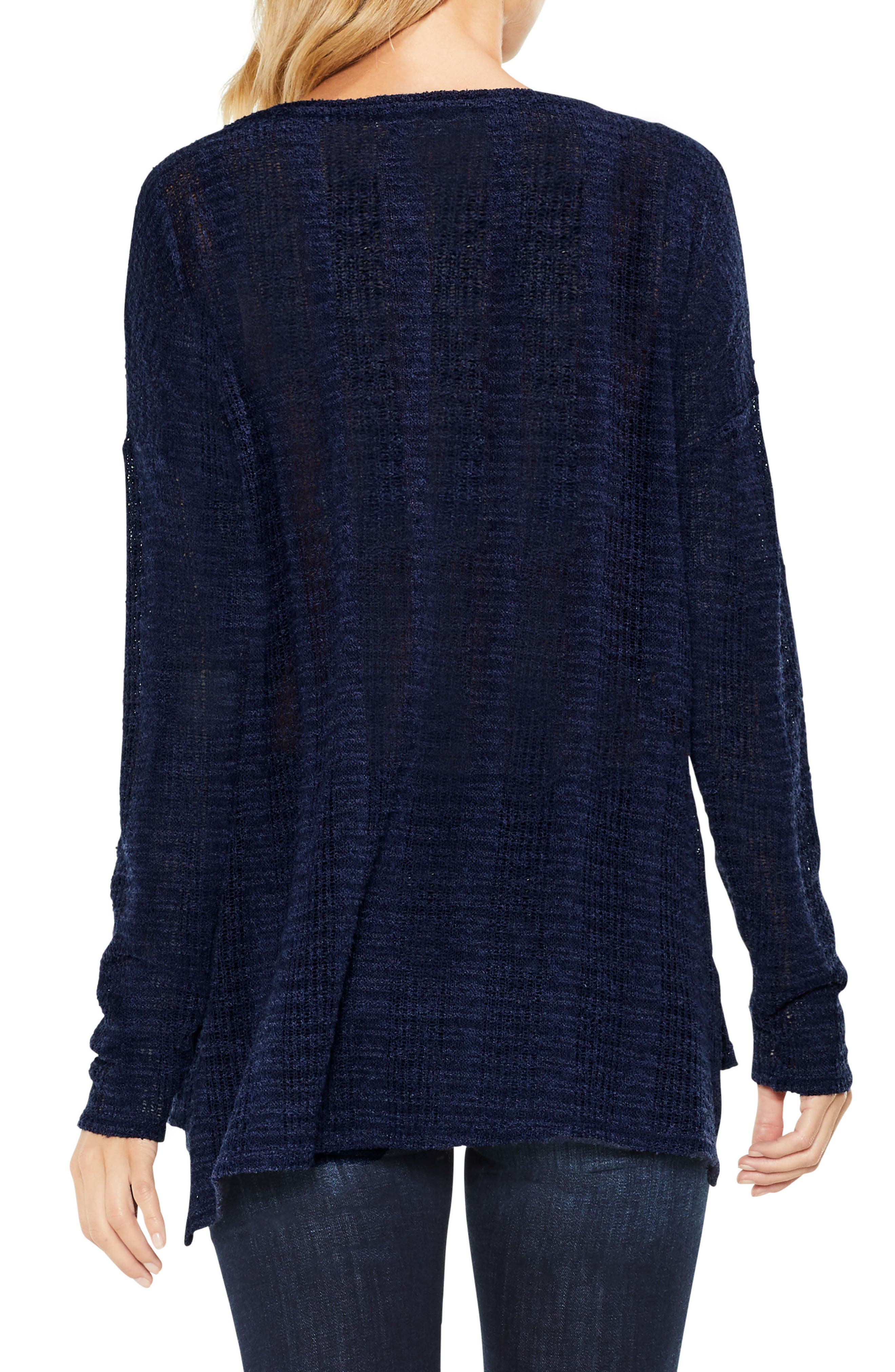 Two by Vince Camuto Drop Needle High/Low Top,                             Alternate thumbnail 2, color,                             Blue Night