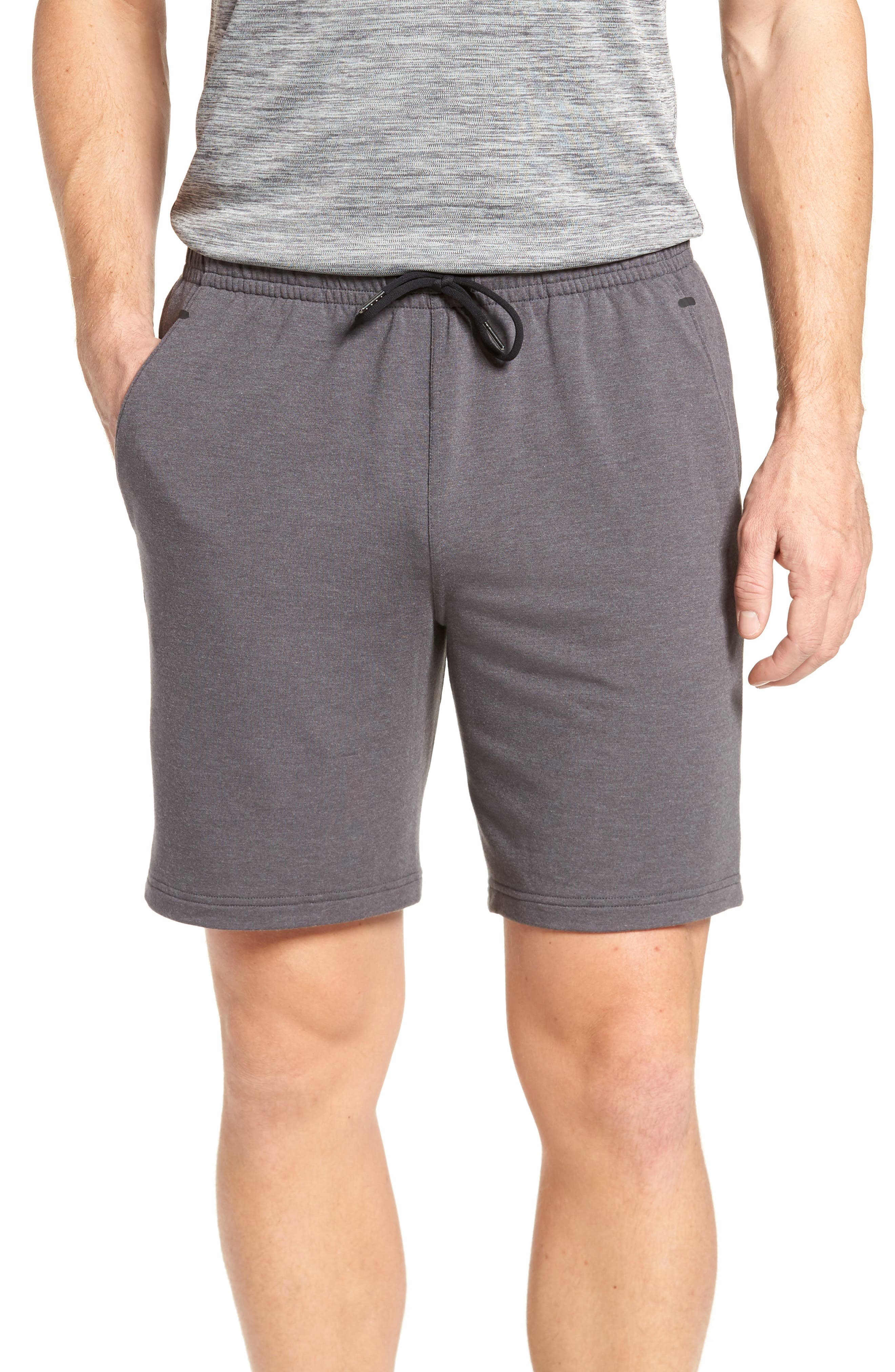 New Pyrite Core Shorts,                         Main,                         color, Grey Obsidian Heather