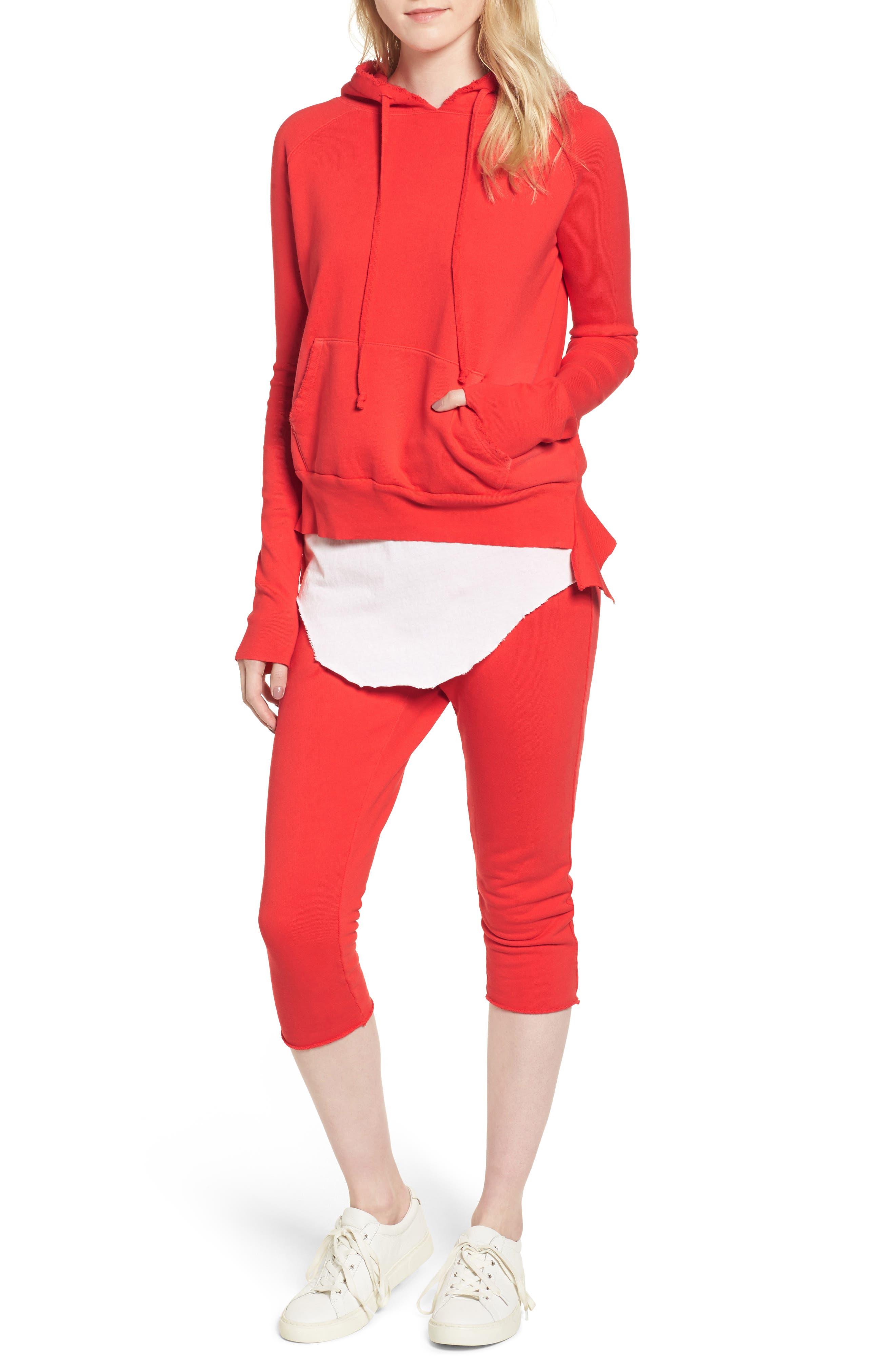 Raw Hem Crop Sweatpants,                             Alternate thumbnail 2, color,                             Flash