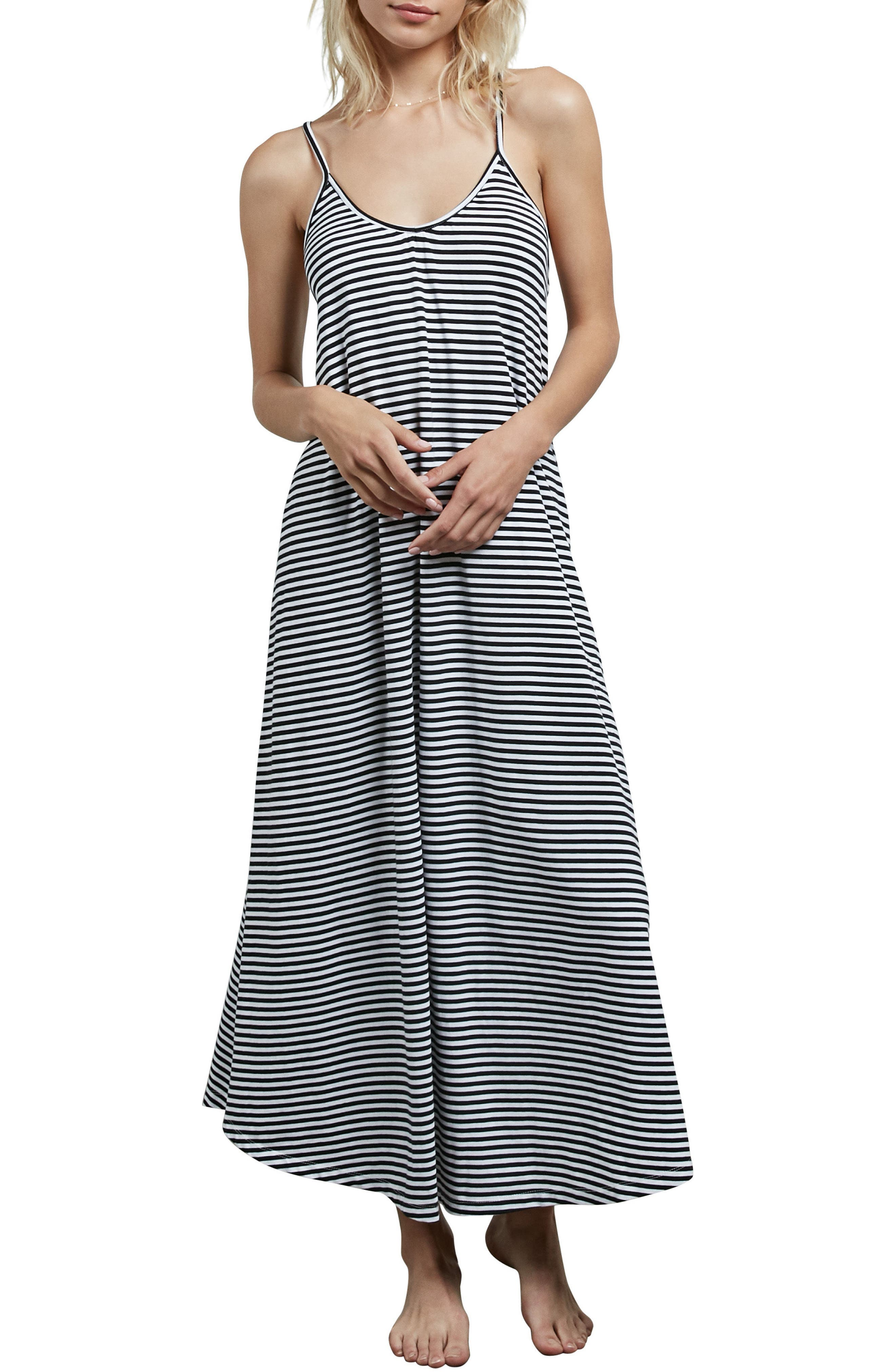 Lil Stripe Maxi Dress,                             Main thumbnail 1, color,                             White