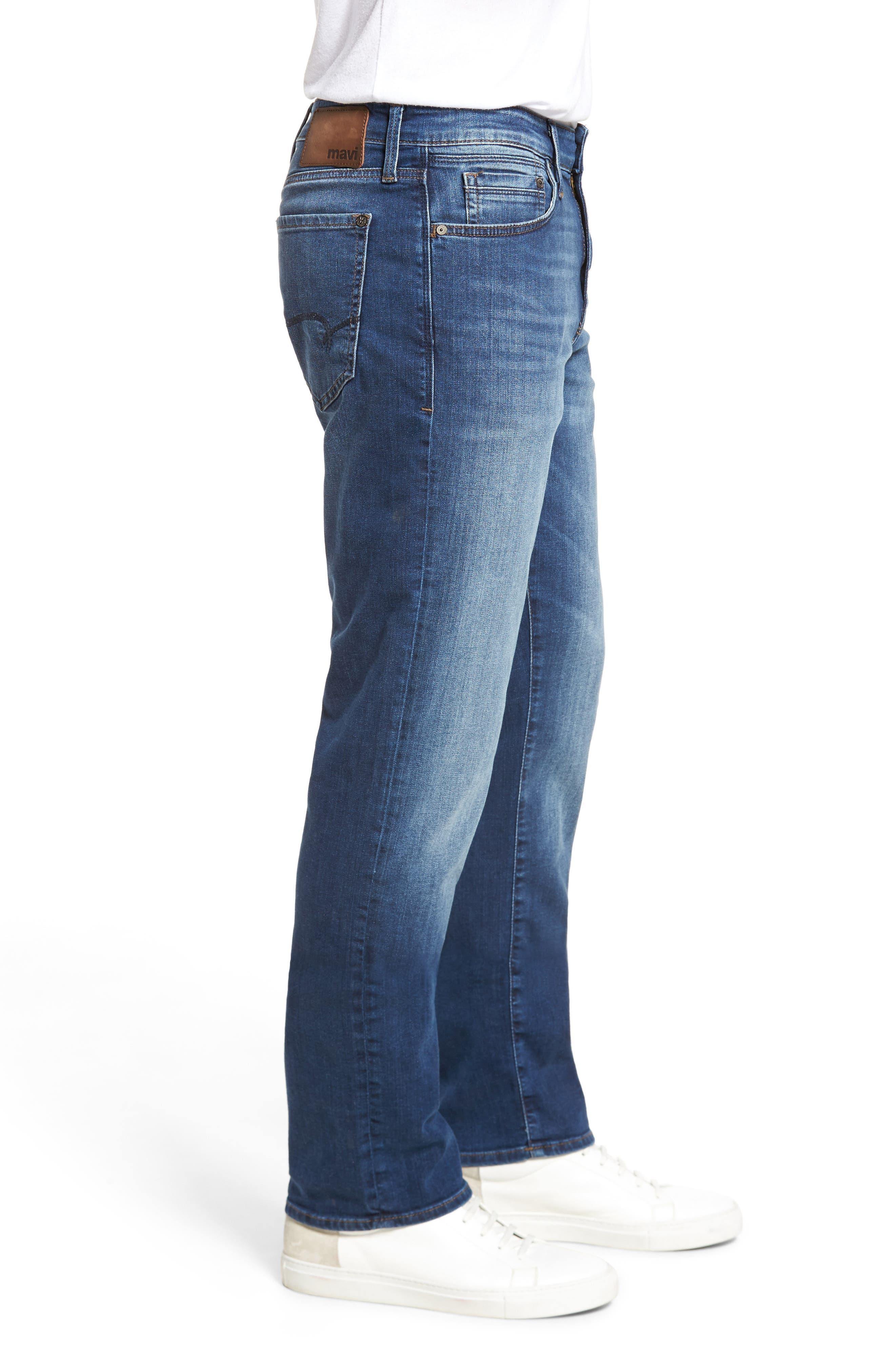 Alternate Image 3  - Mavi Jeans Myles Straight Fit Jeans (Dark Used Williamsburg)