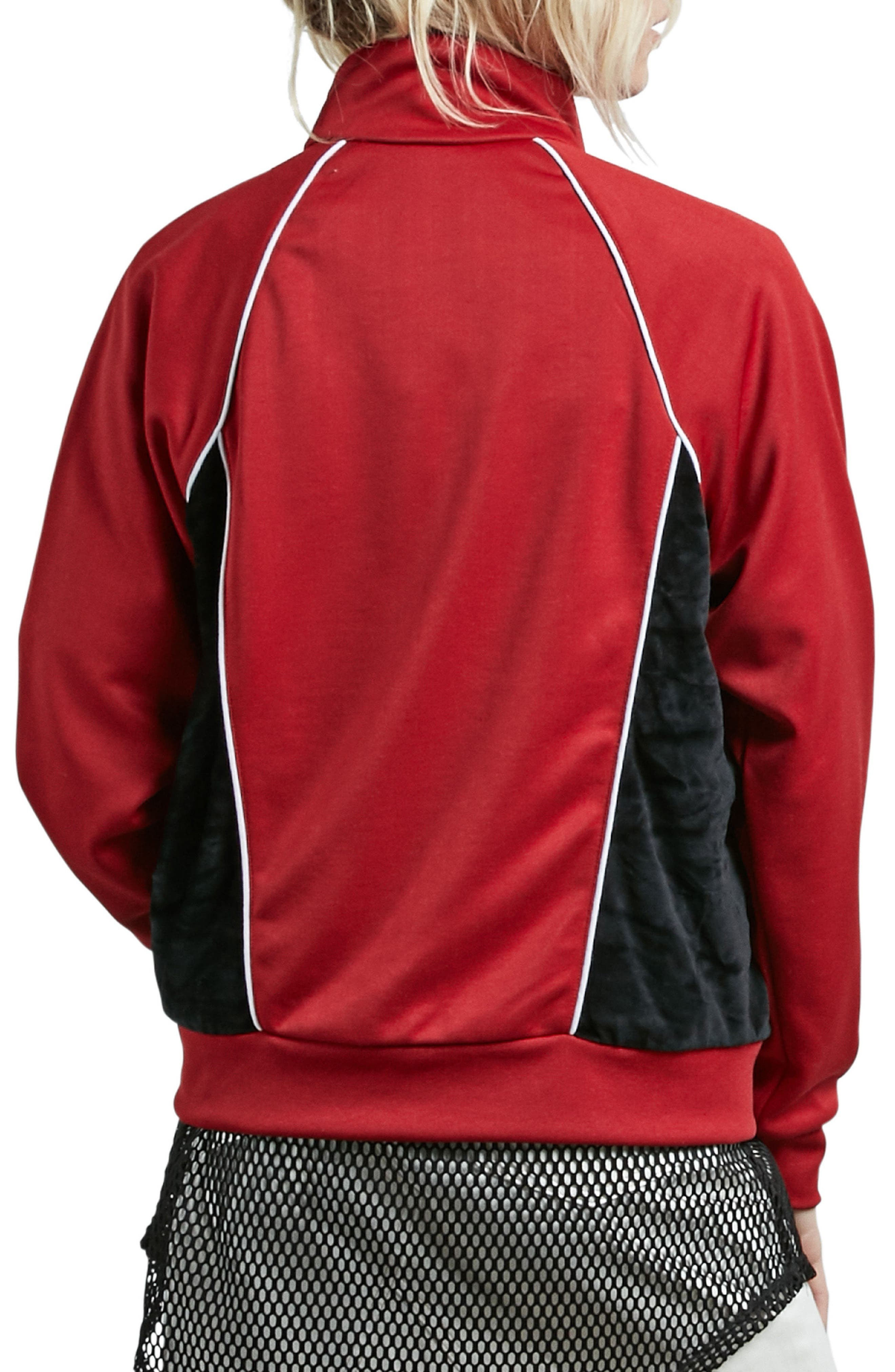 True to Track Jacket,                             Alternate thumbnail 2, color,                             Red Chili