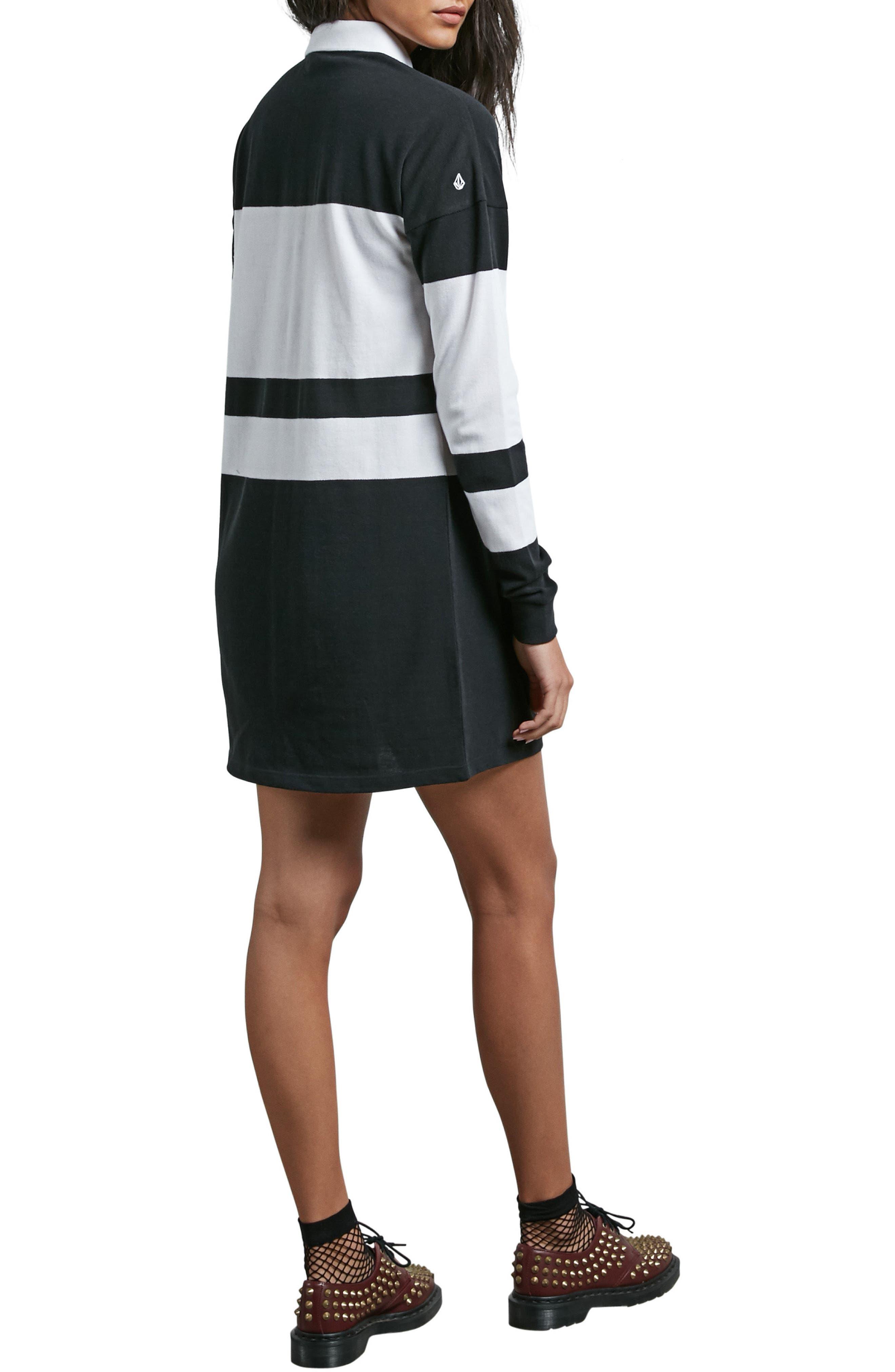 Alternate Image 2  - Volcom Pique Boo Rugby Dress