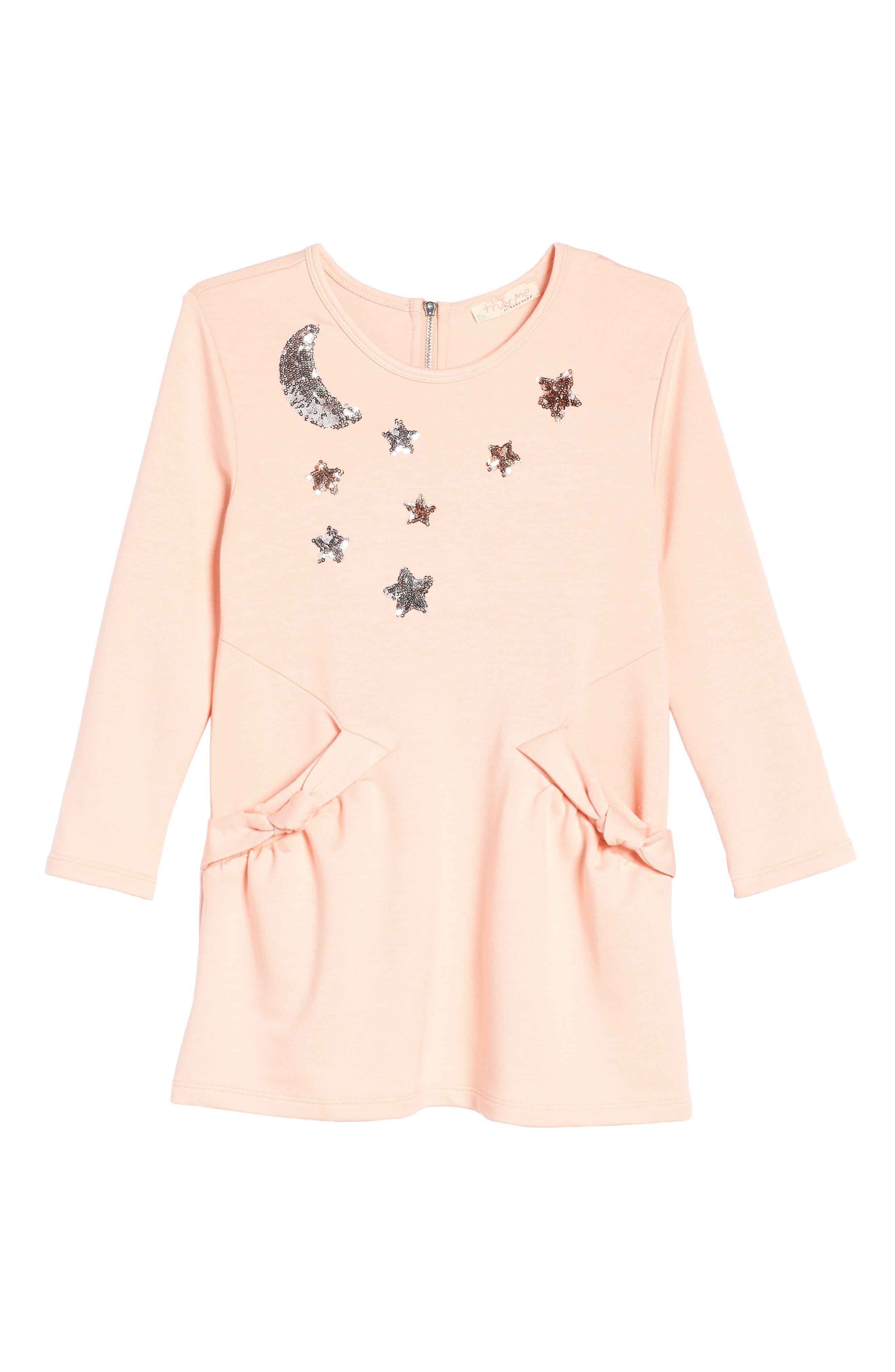 Celestial Knit Dress,                             Main thumbnail 1, color,                             Light Pink