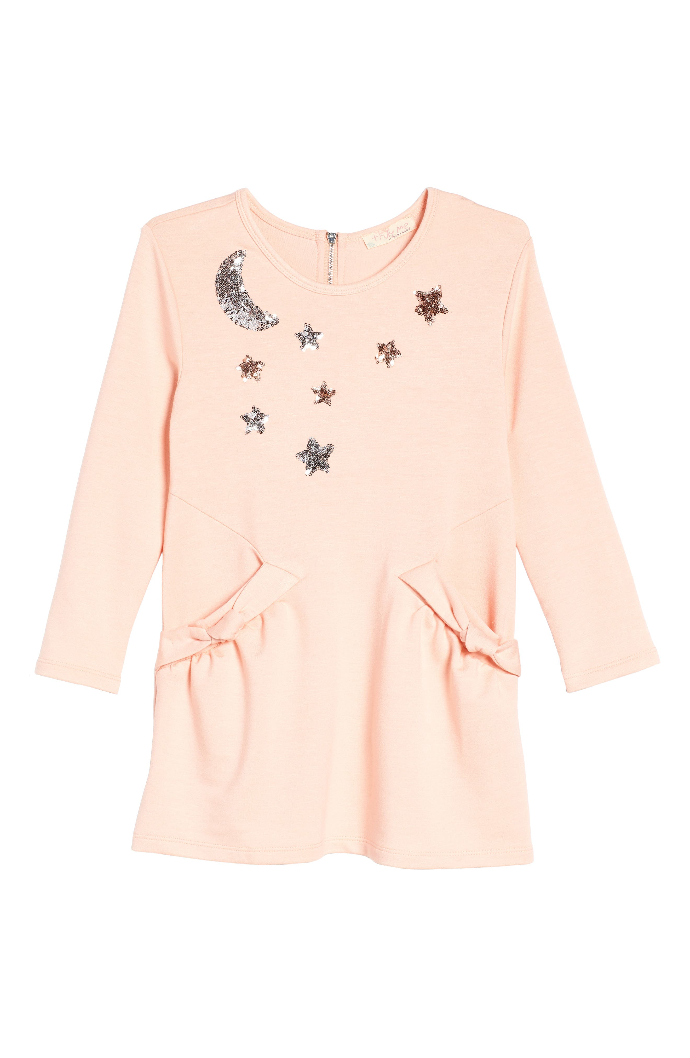Celestial Knit Dress,                         Main,                         color, Light Pink