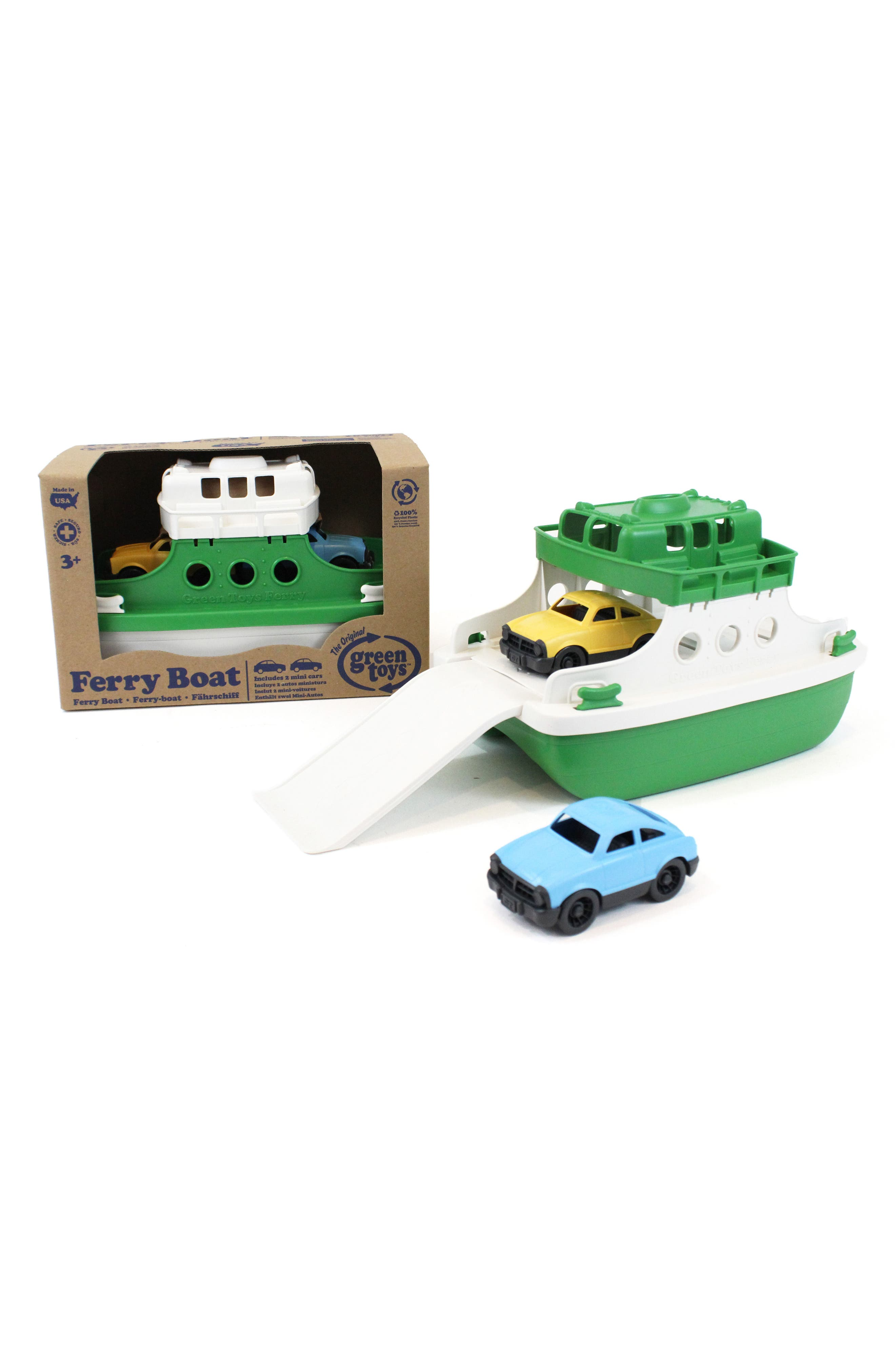 Three-Piece Ferry Boat Toy,                             Alternate thumbnail 2, color,                             Green