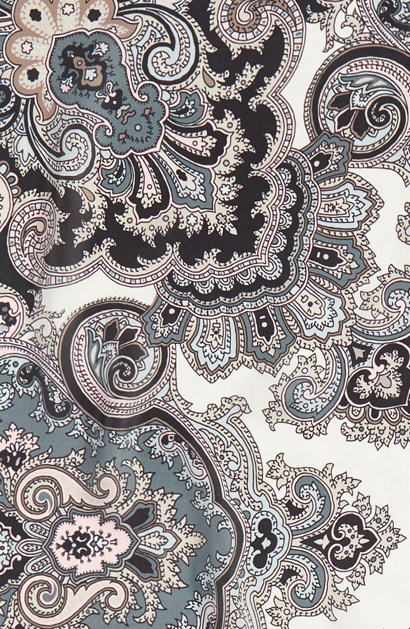 London Nights Square Silk Scarf,                             Alternate thumbnail 4, color,                             Marshmallow