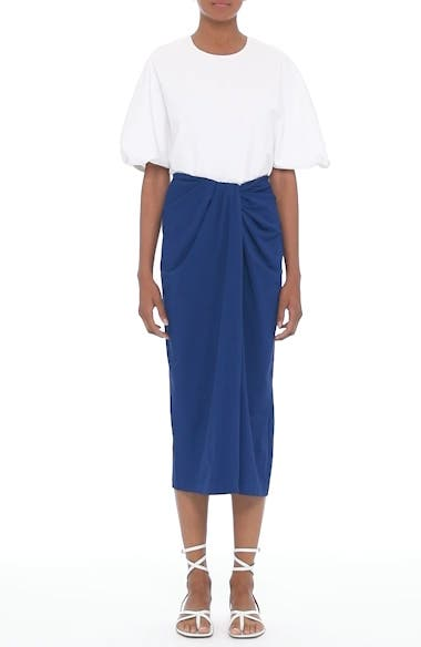 Alternate Image 7  - Rosetta Getty Jersey Twist Front Midi Skirt