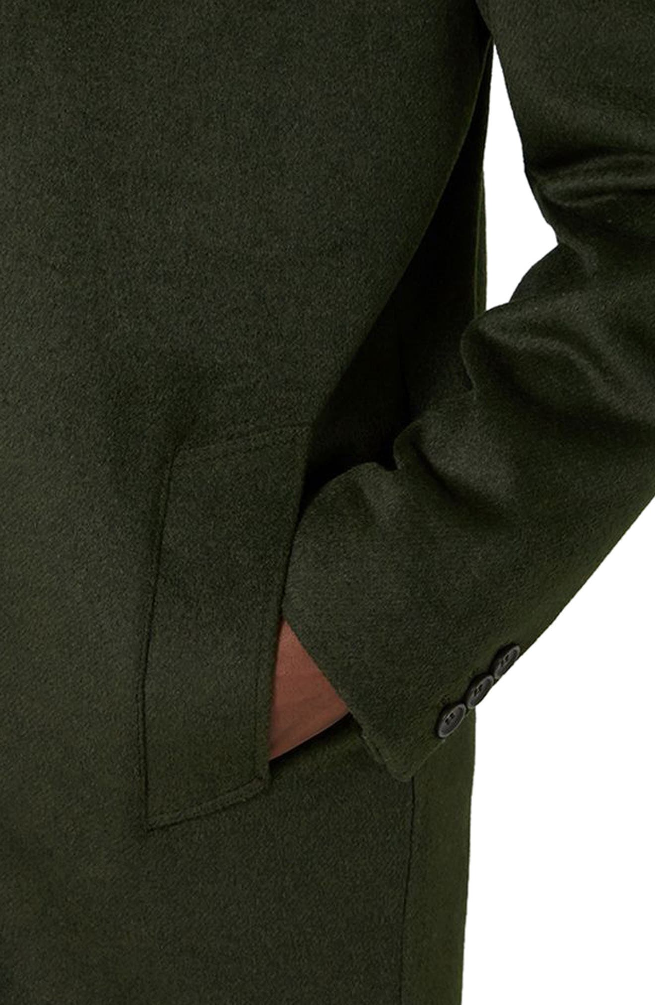 Alternate Image 3  - Topman Khaki Overcoat