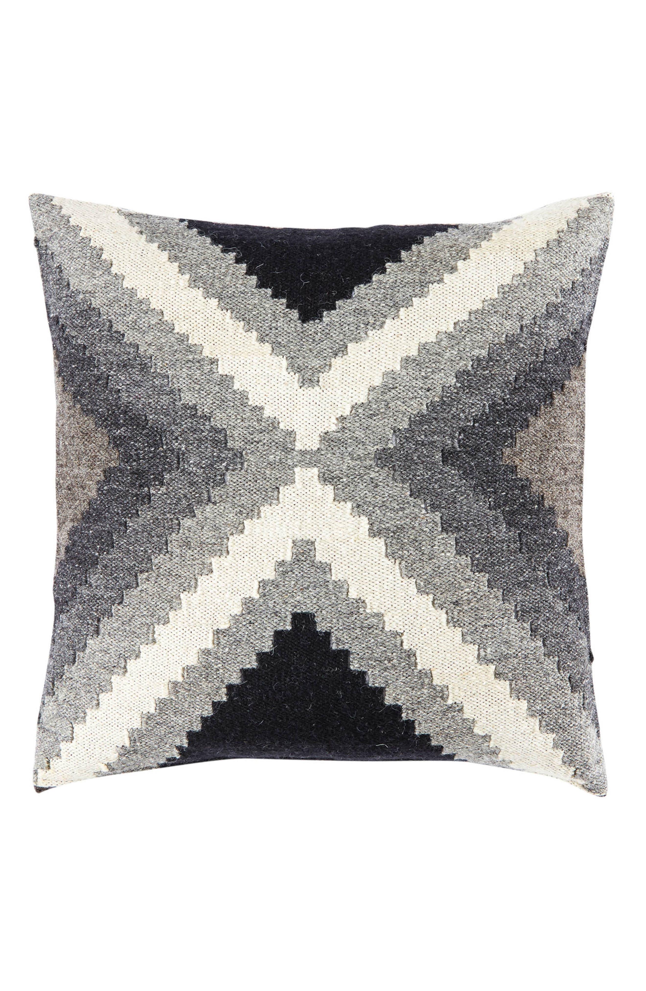 Peykan Pillow,                         Main,                         color, Turtledove/ Bungee Cord