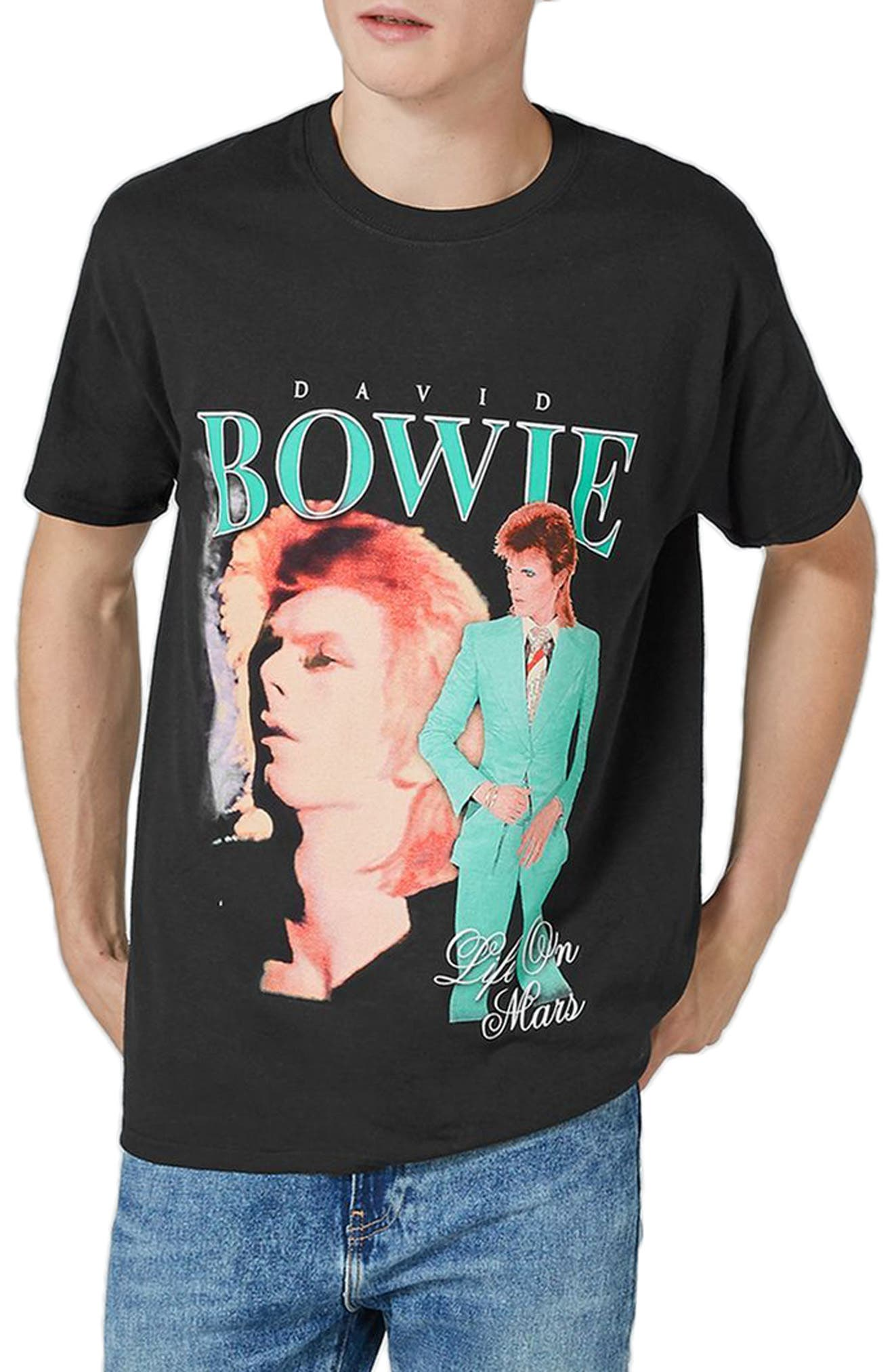 David Bowie Graphic T-Shirt,                         Main,                         color, Black Multi