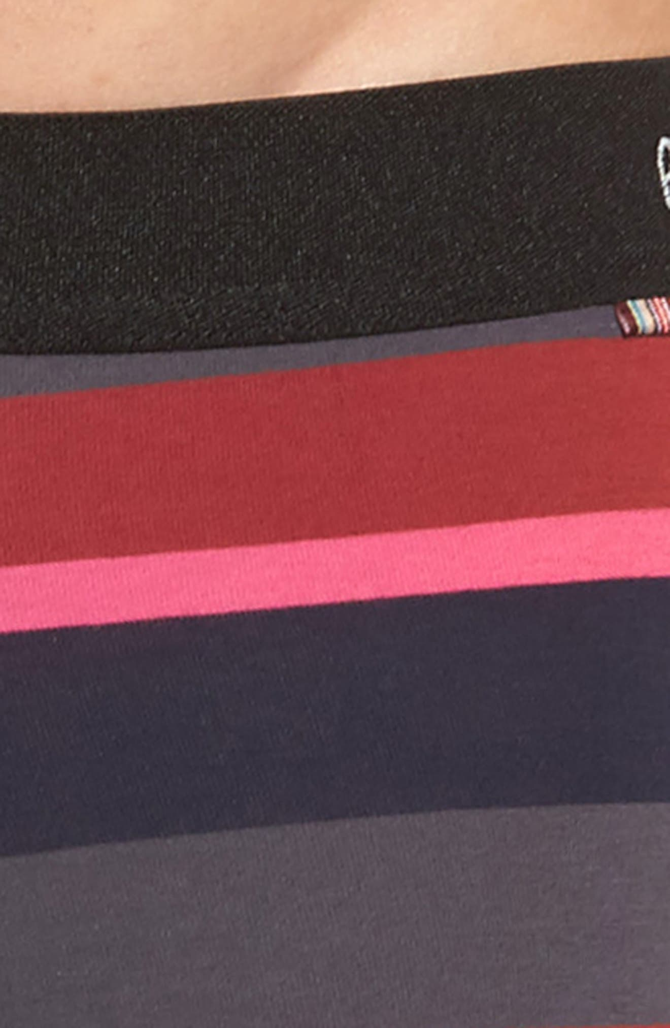 Multi Stripe Stretch Cotton Trunks,                             Alternate thumbnail 4, color,                             Blue